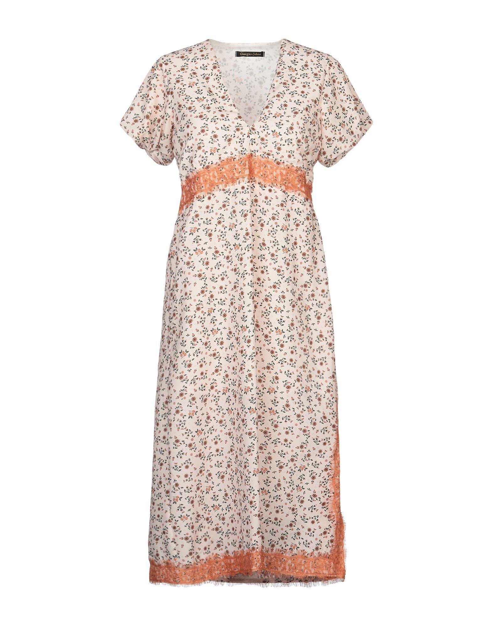 Giorgia & Johns Light Pink Print Dress