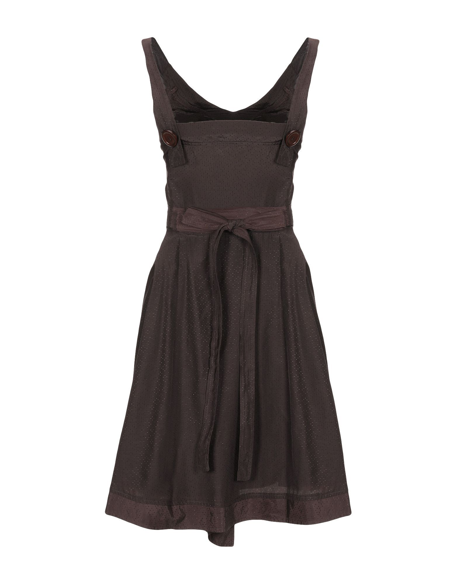 Daniele Alessandrini Dark Brown Sleeveless Dress