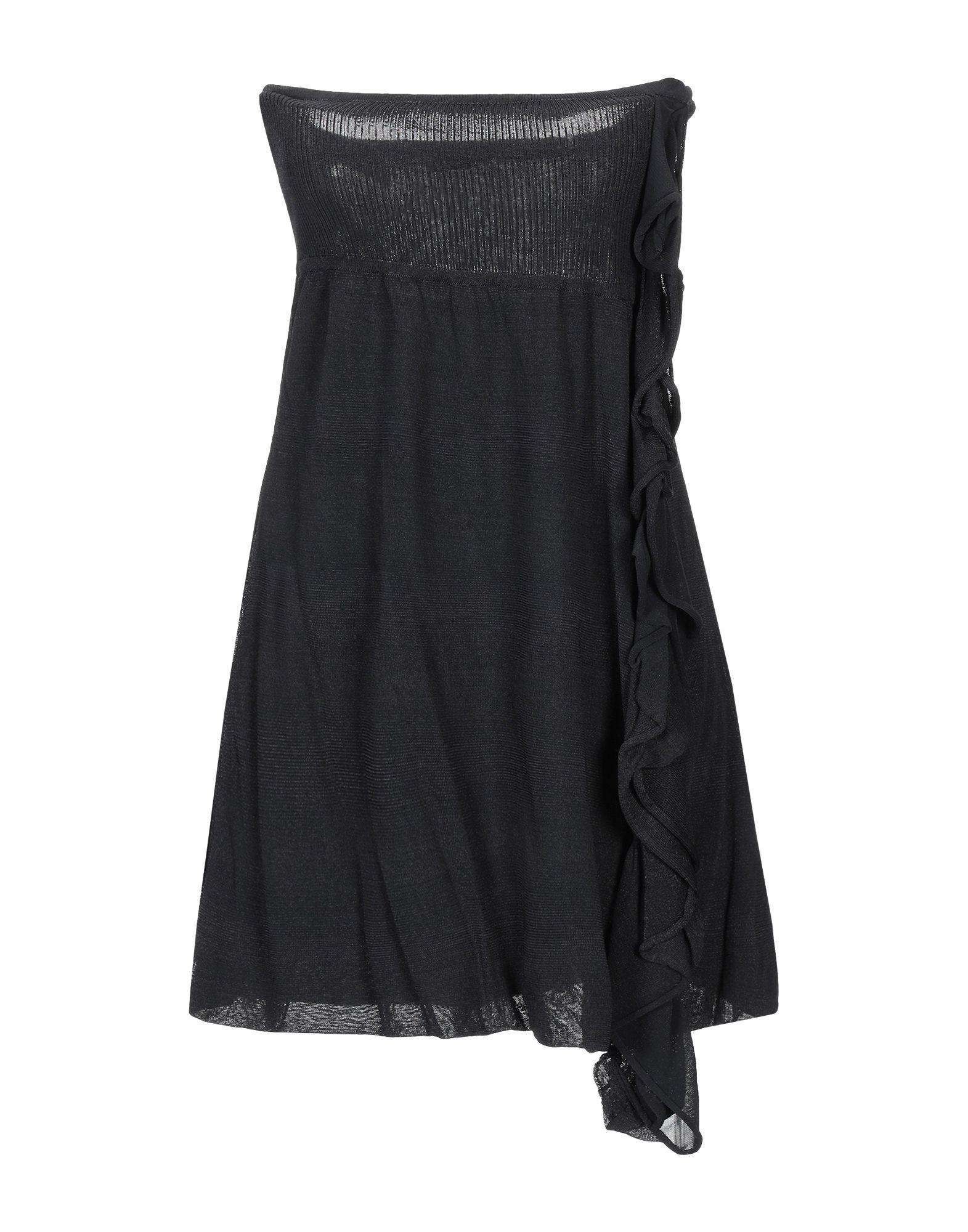 Pinko Black Knit Ruffle Dress