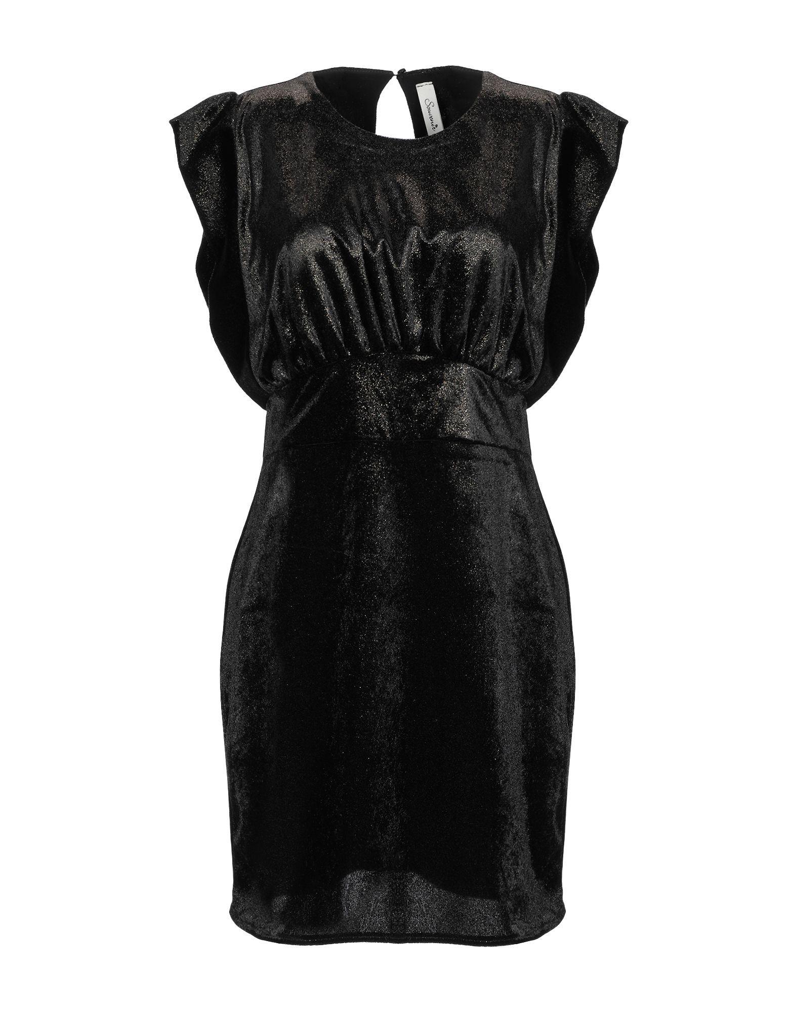 Souvenir Black Velvet Short Dress