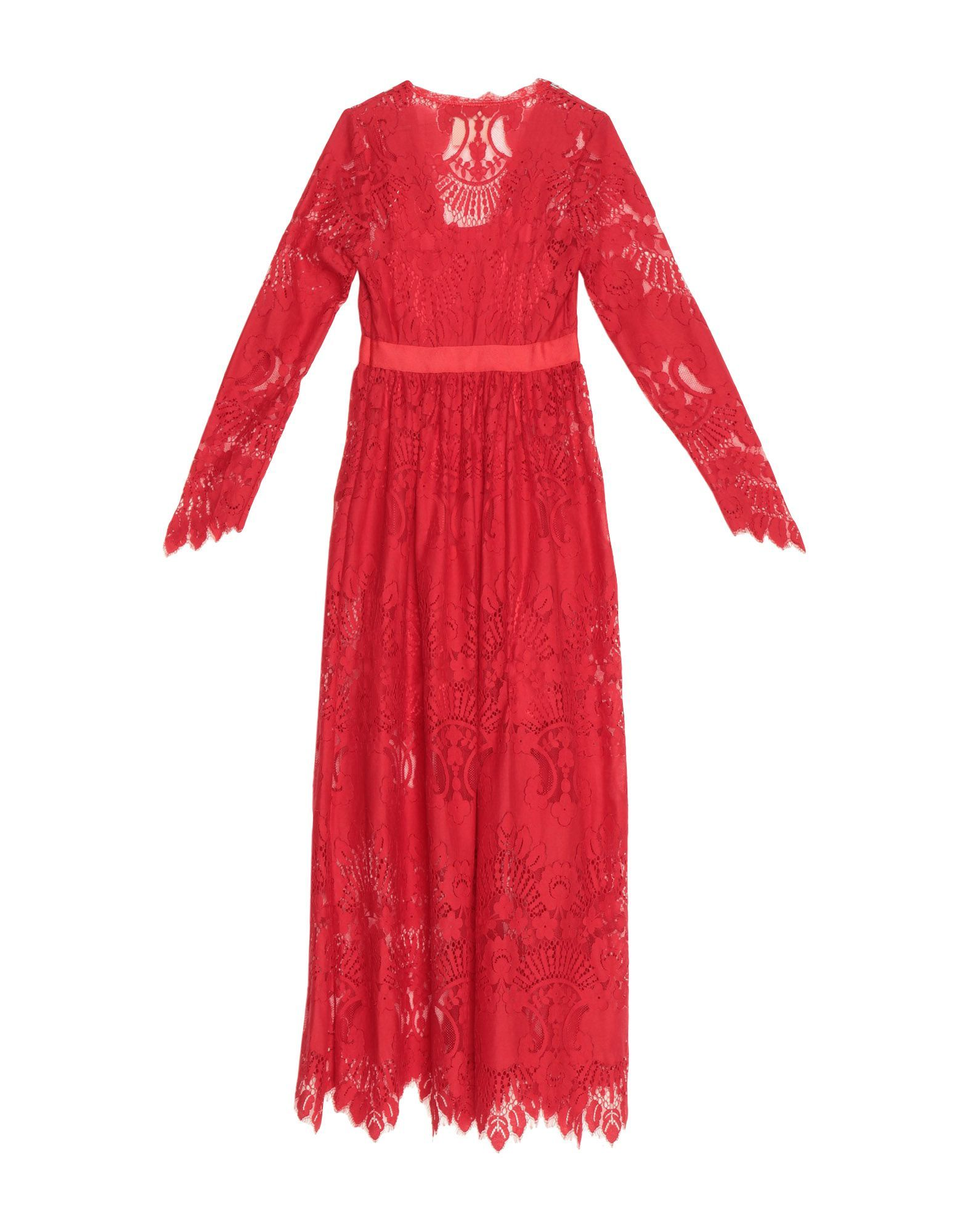 Aniye By Red Cotton Lace Full Length Dress