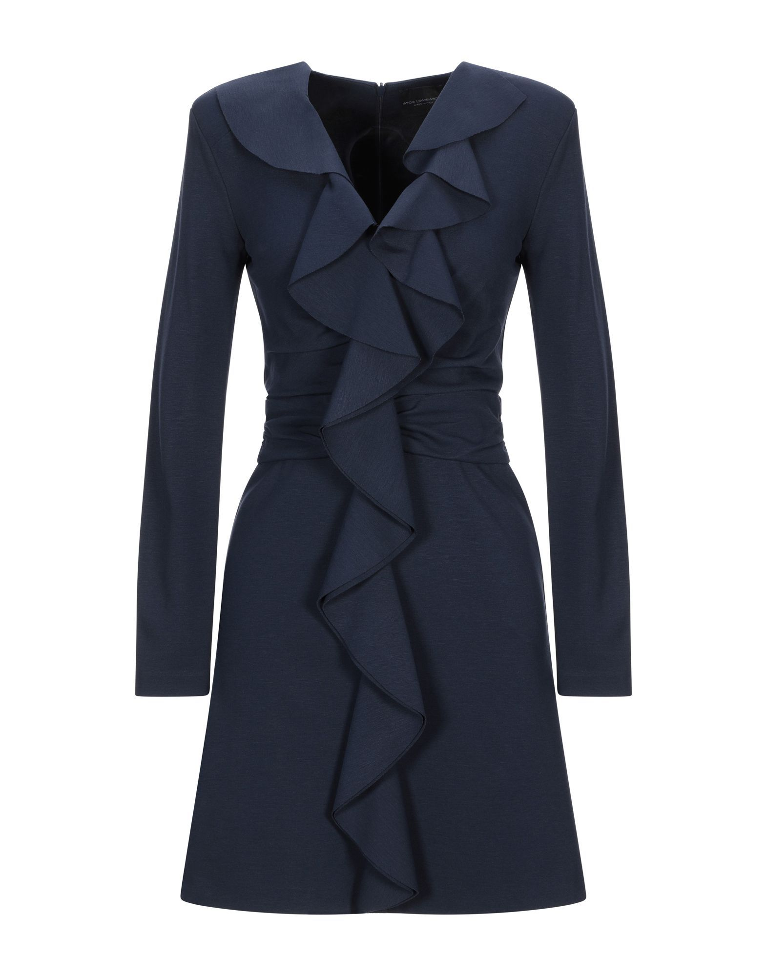 Atos Lombardini Dark Blue Long Sleeve Dress