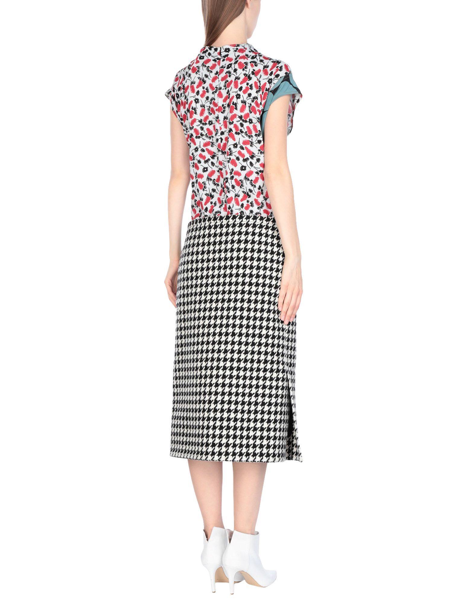 Marni Black Print Virgin Wool Dress