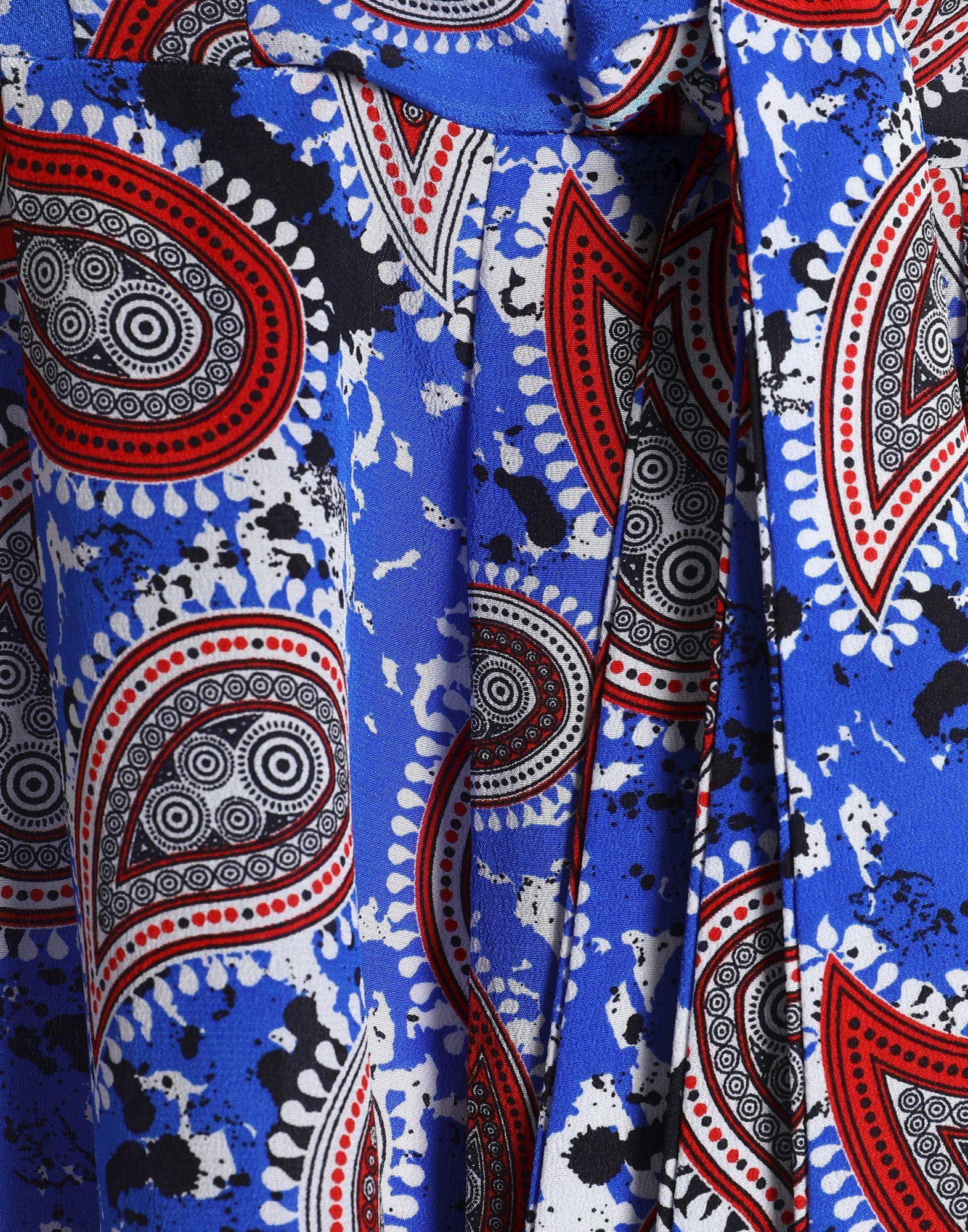 Dodo Bar Or Blue Paisley Print Silk Dress
