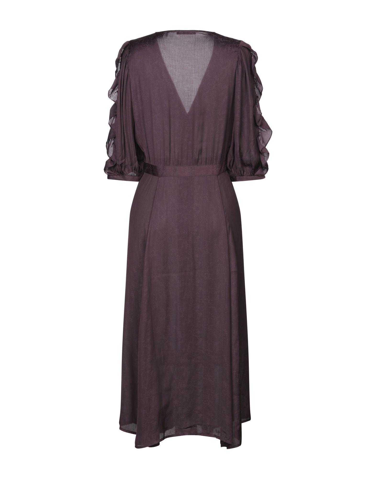 Sessun Deep Purple Midi Dress