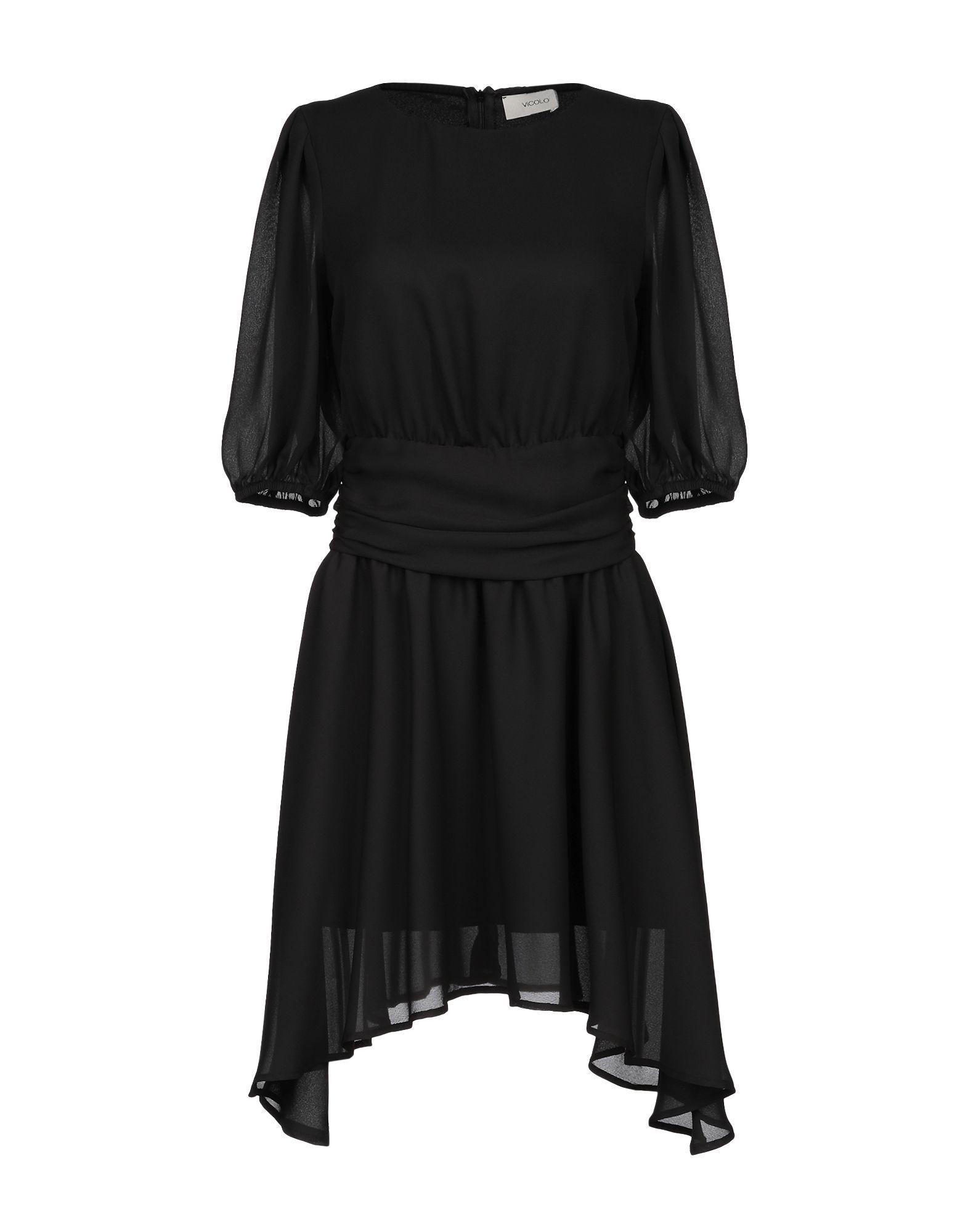 Dress Vicolo Black Women's Polyester