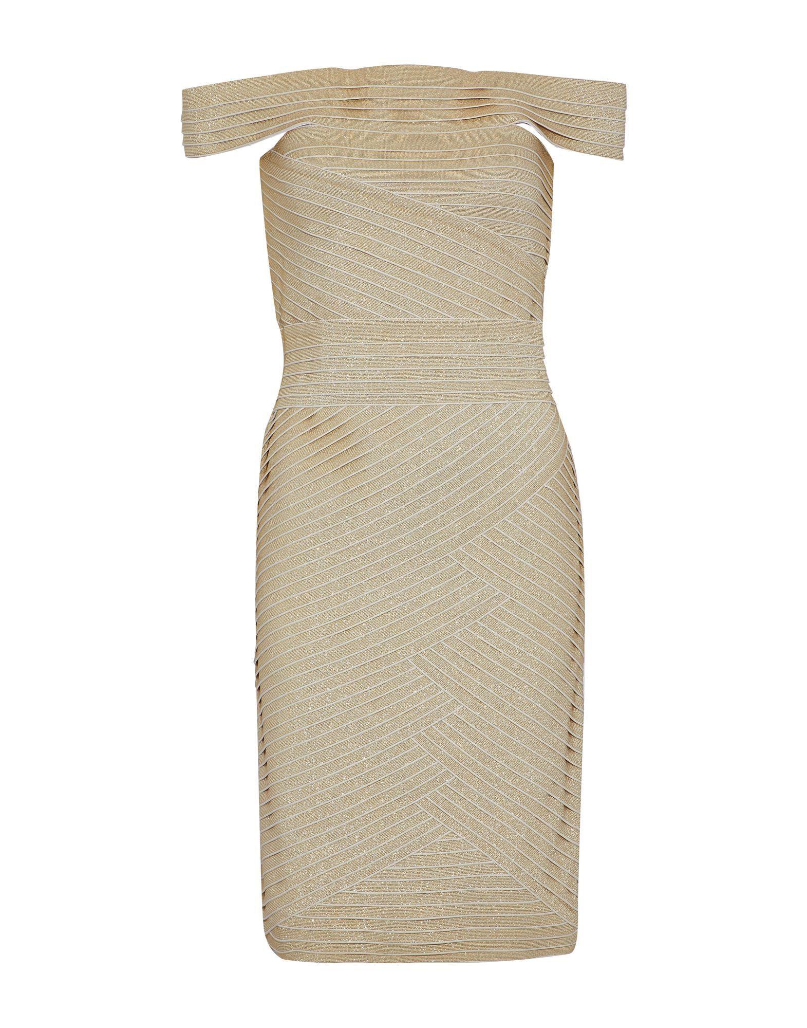 Pierre Balmain Gold Knit Dress