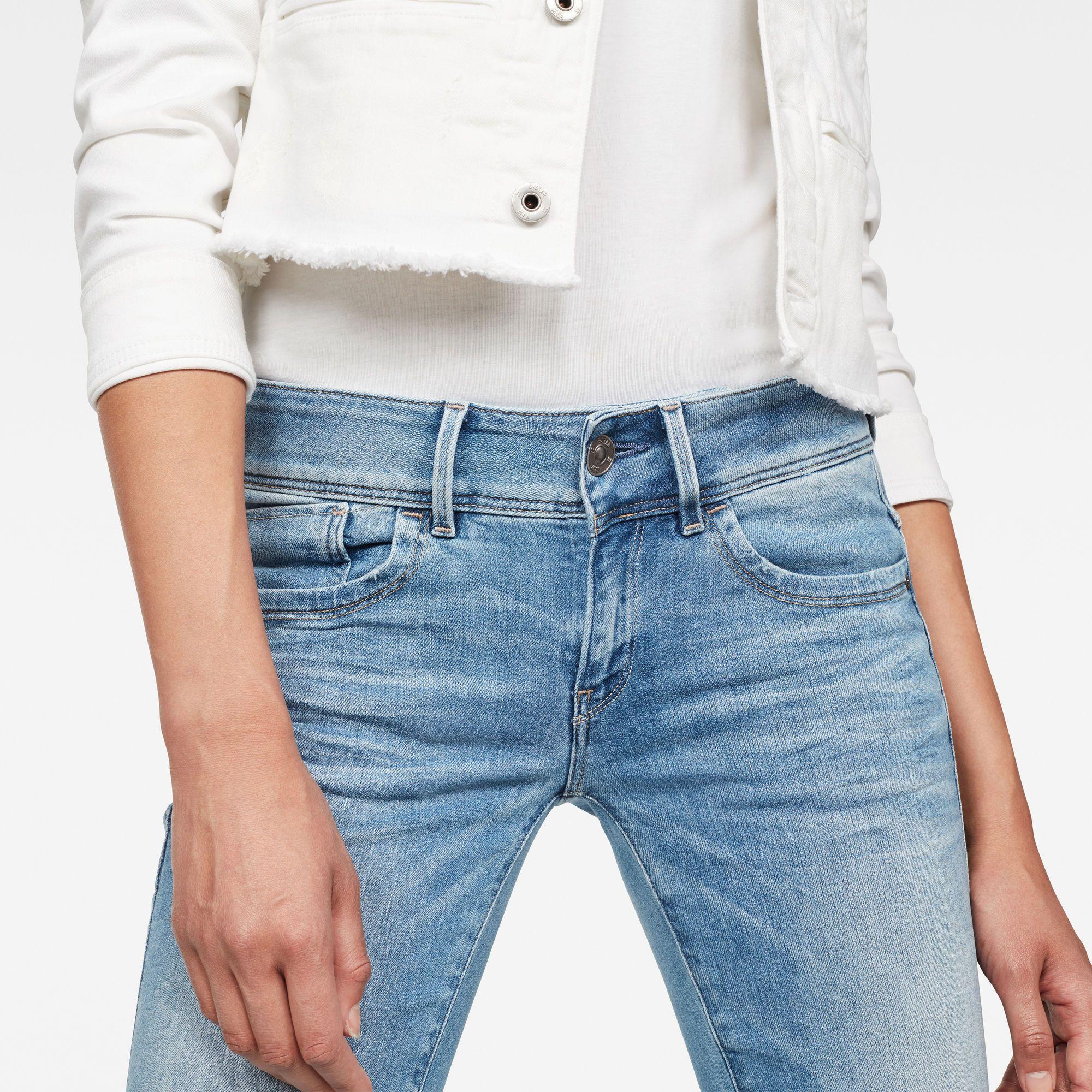 G-Star RAW Lynn Mid Waist Skinny Jeans