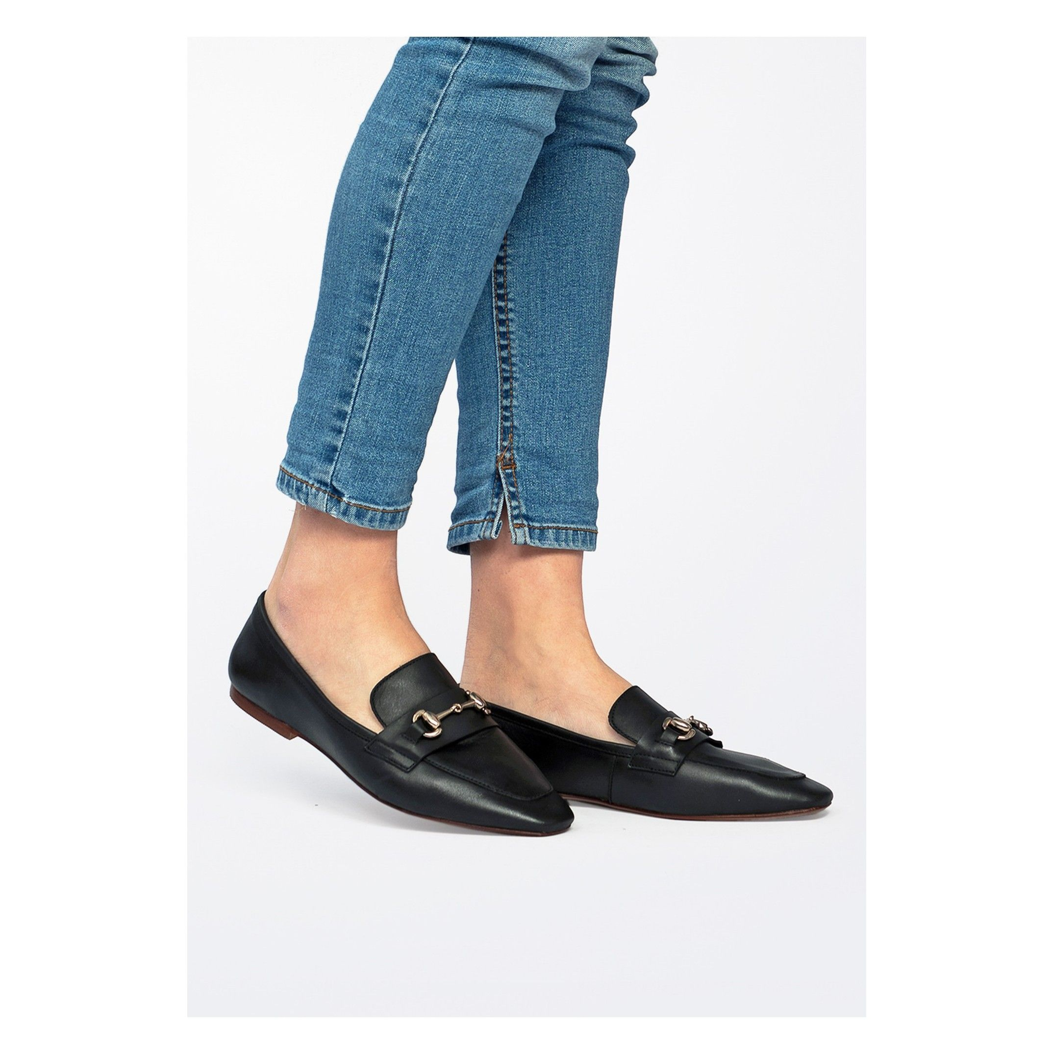 Eva Lopez Leather Loafers Women Engraved