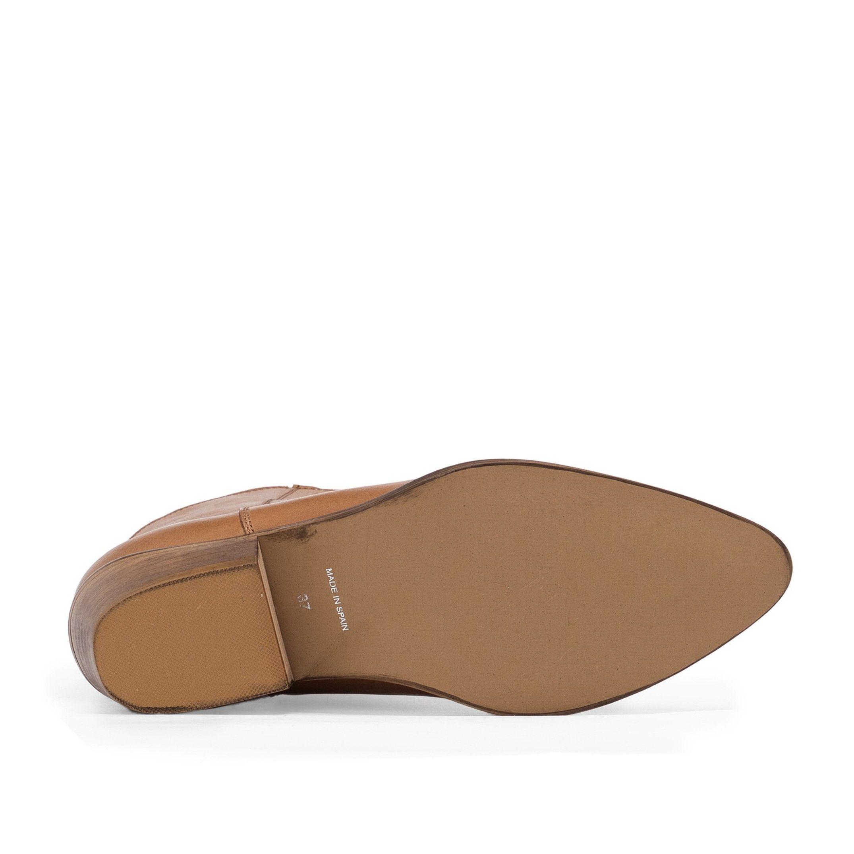 Eva Lopez Leather Cowboy Boots Heel