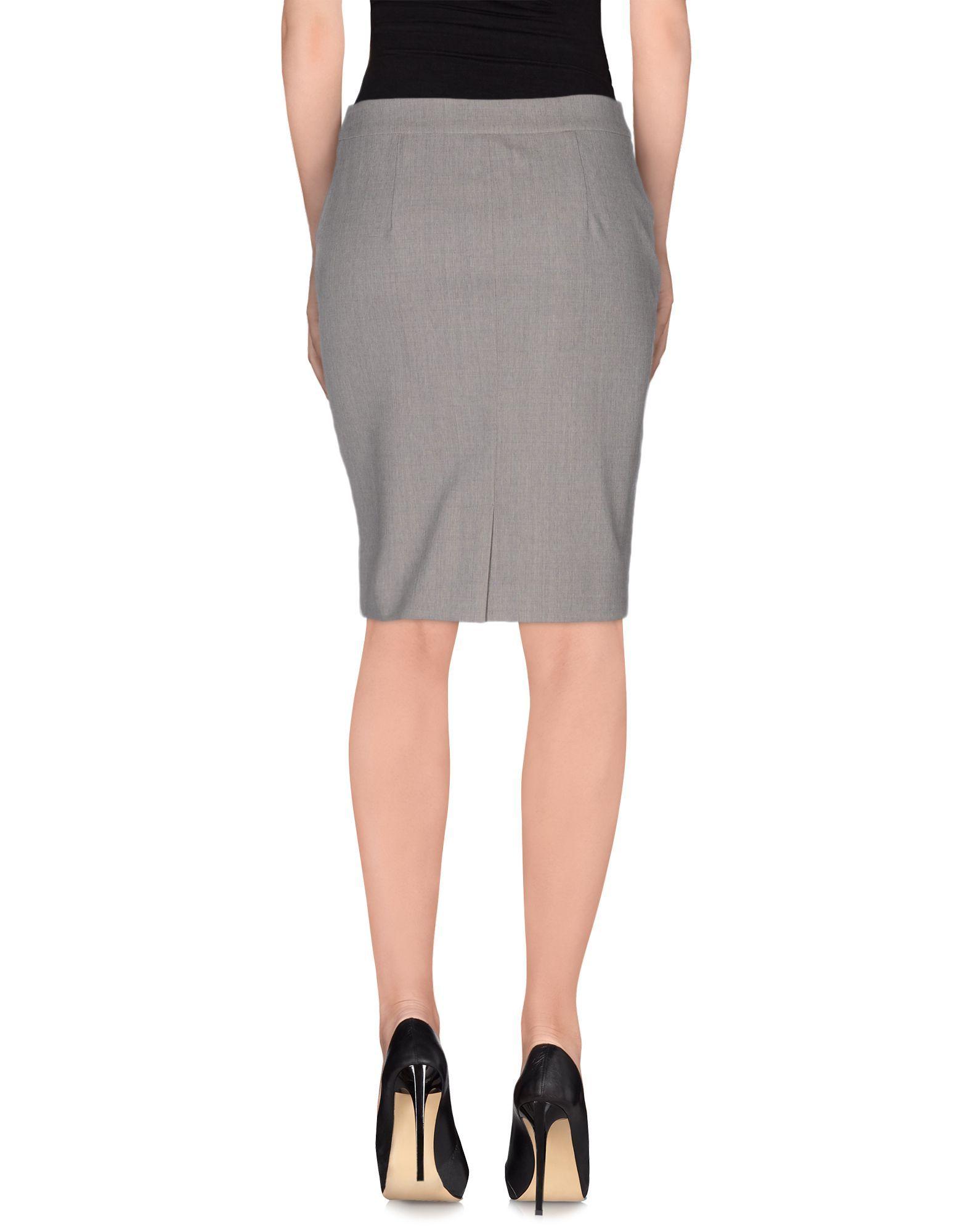 SKIRTS Seventy Sergio Tegon Grey Woman Virgin Wool