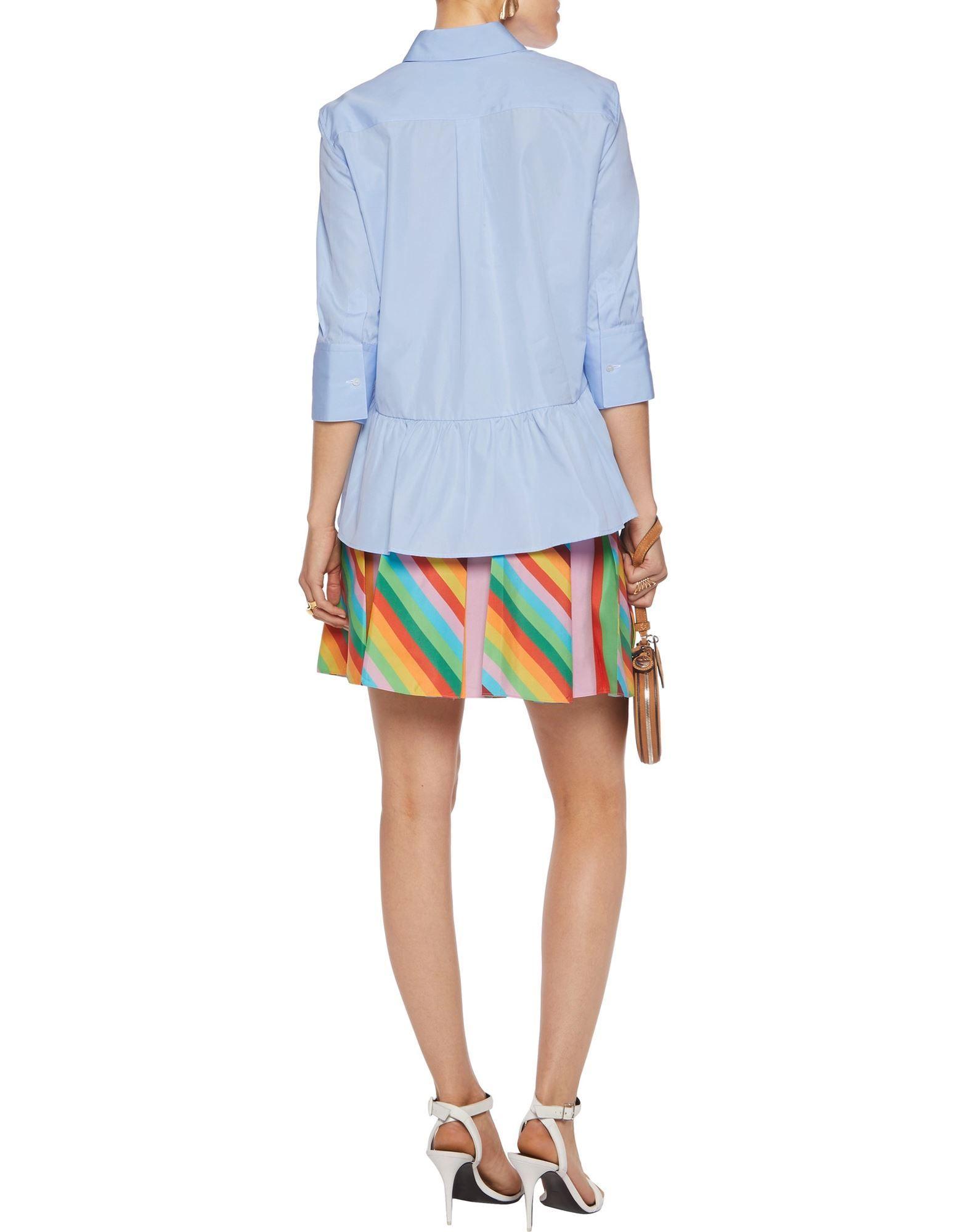 Valentino Pink Rainbow Stripe Silk Skirt