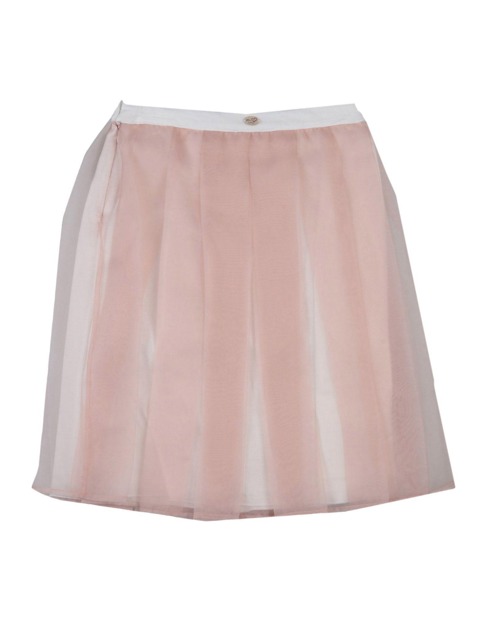 SKIRTS Ki6? Pretty Pale pink Girl Polyester