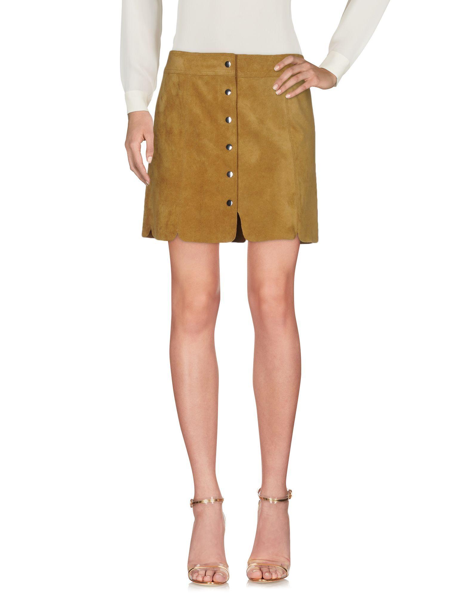 Isabel Marant Etoile Khaki Calf Leather Skirt