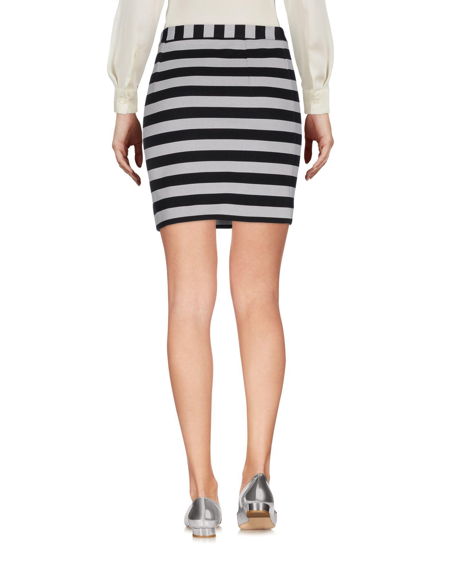 Patrizia Pepe Black Stripe Cotton Mini Skirt