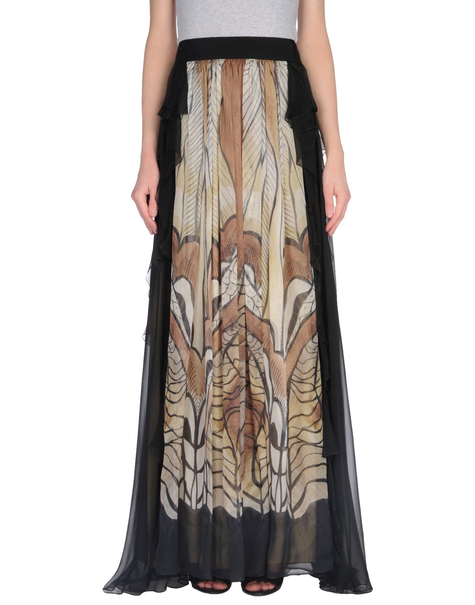 SKIRTS Woman Alberta Ferretti Khaki Silk