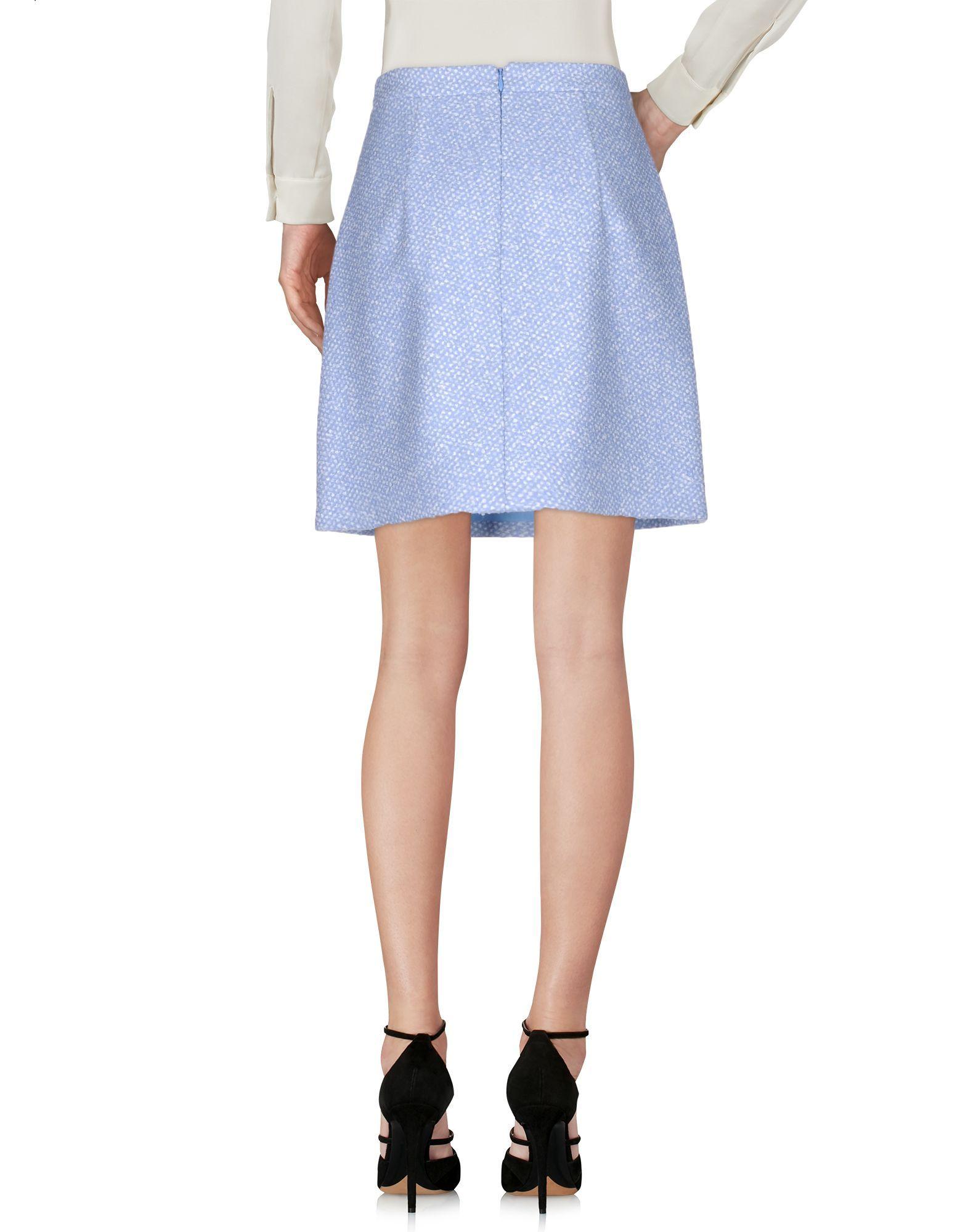 Skirt Michael Kors Collection Azure Women's Virgin Wool