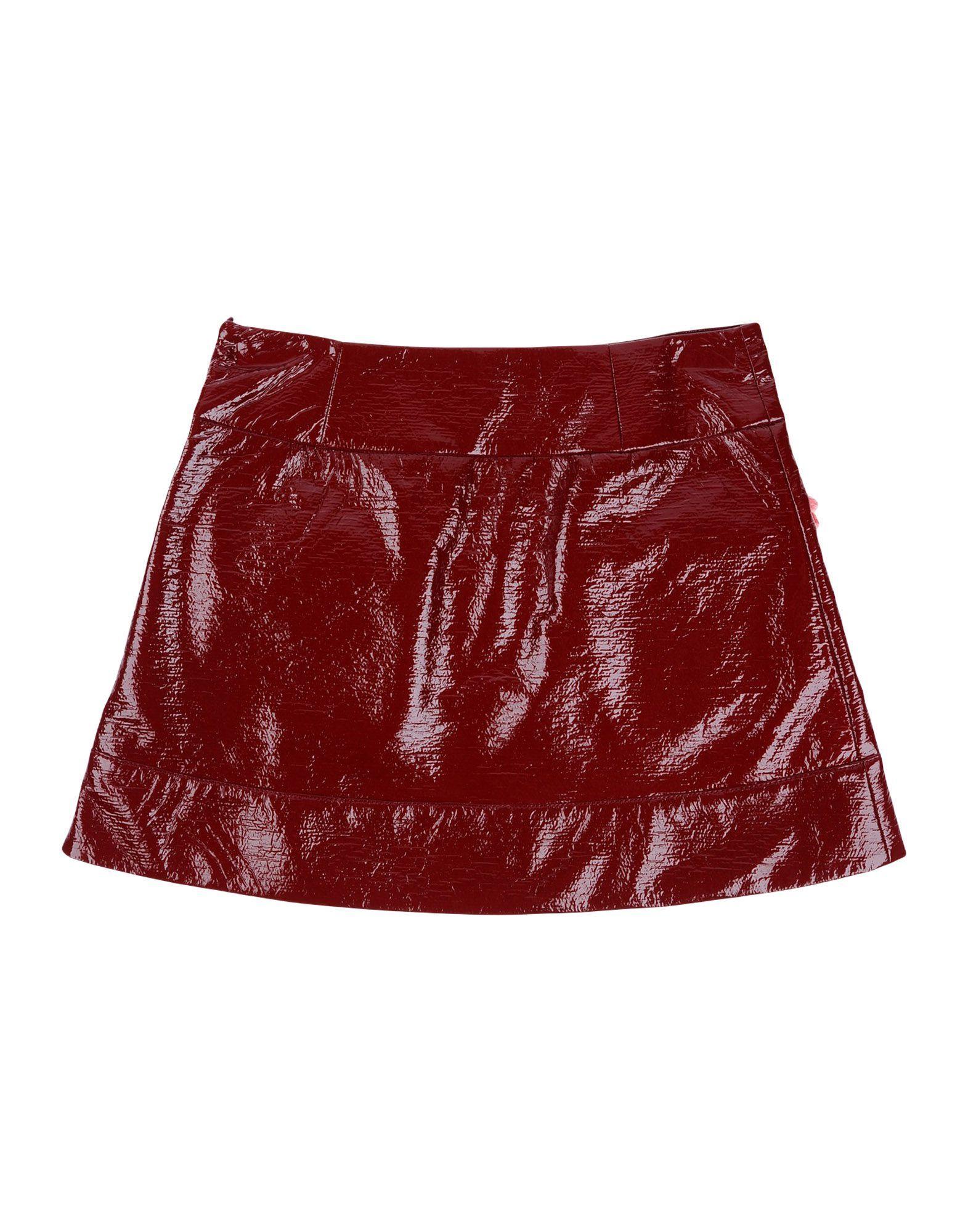Simonetta Maroon Girls' Cotton Skirt