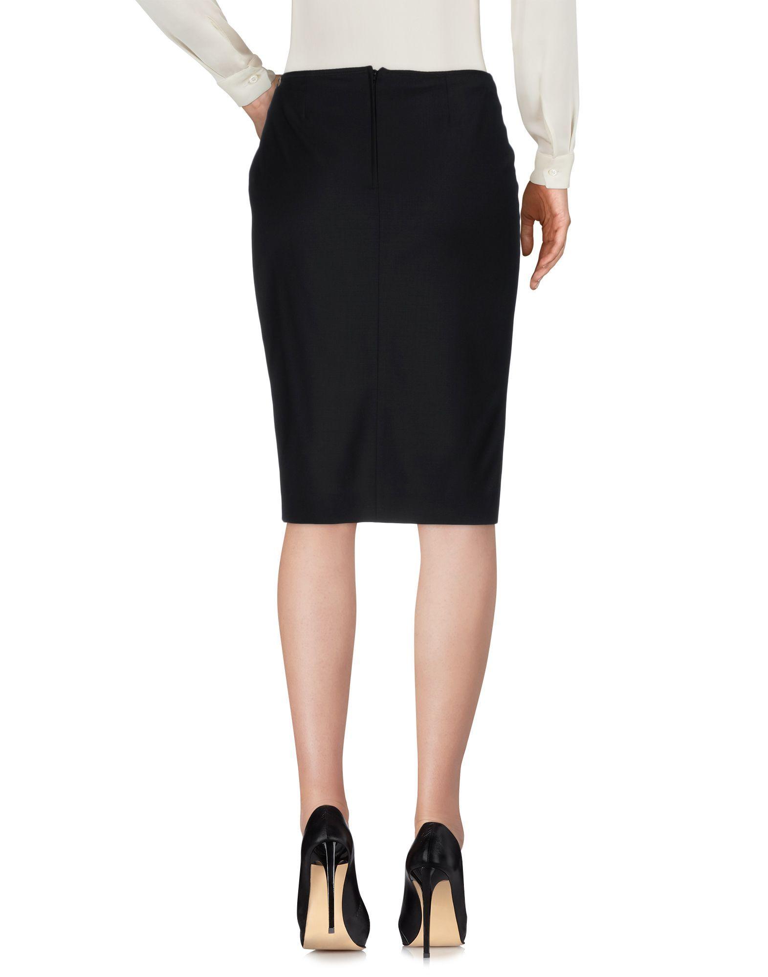 John Richmond Black Virgin Wool Skirt