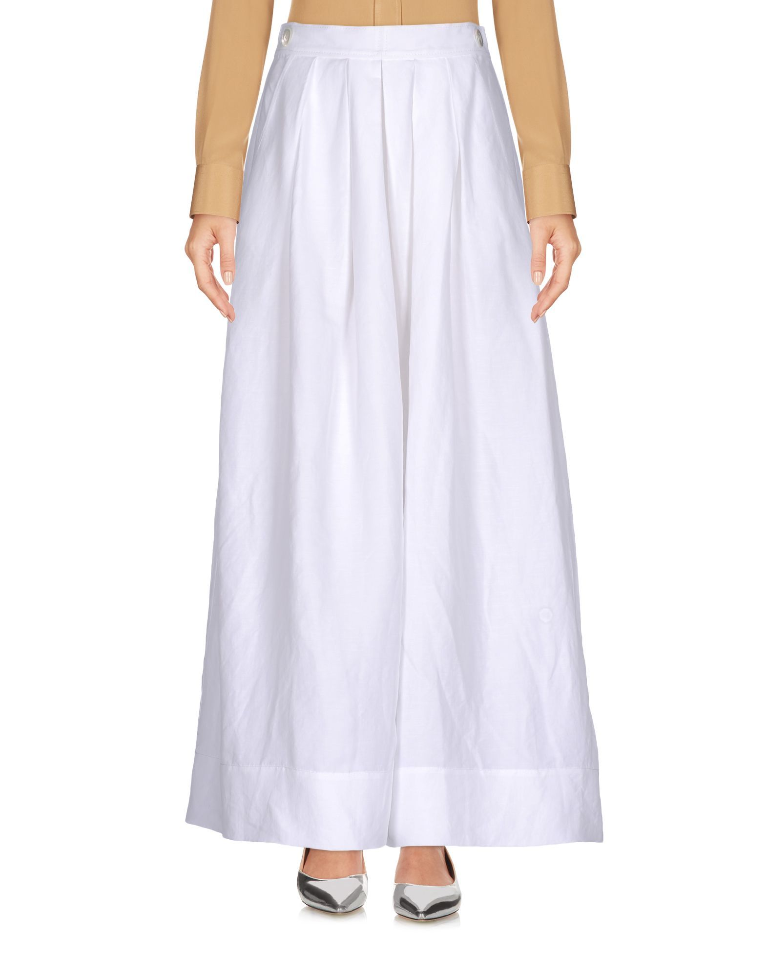 SKIRTS Mant� White Woman Linen