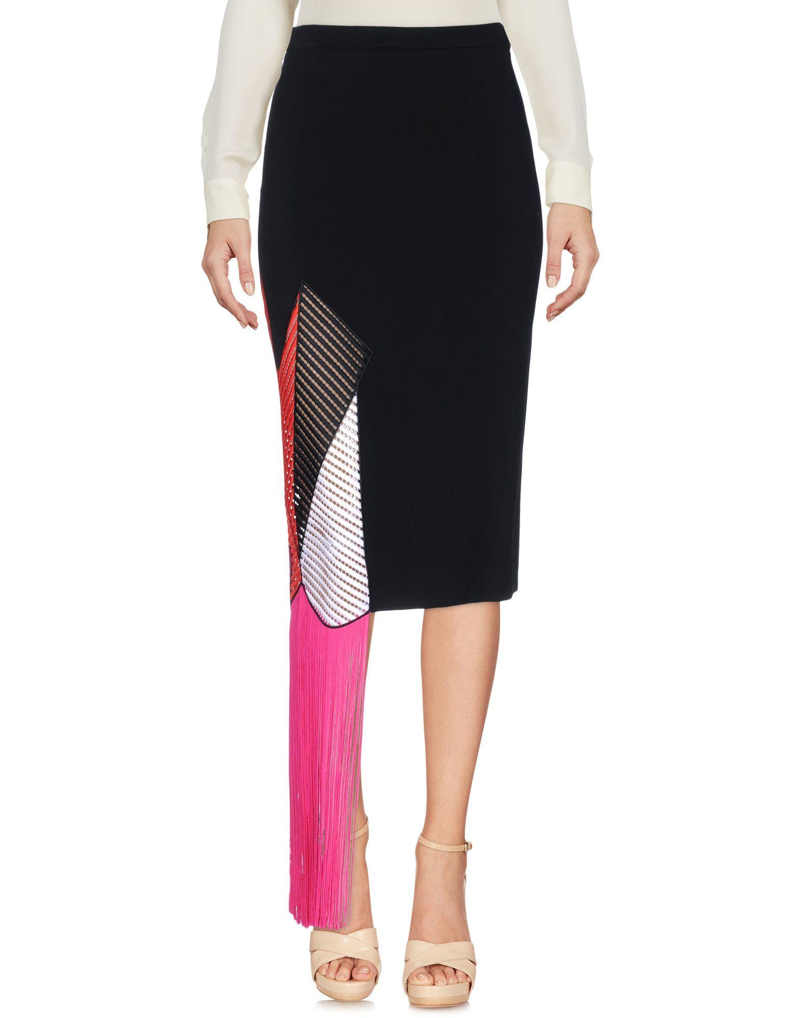 Christopher Kane Black 3/4 Length Skirt