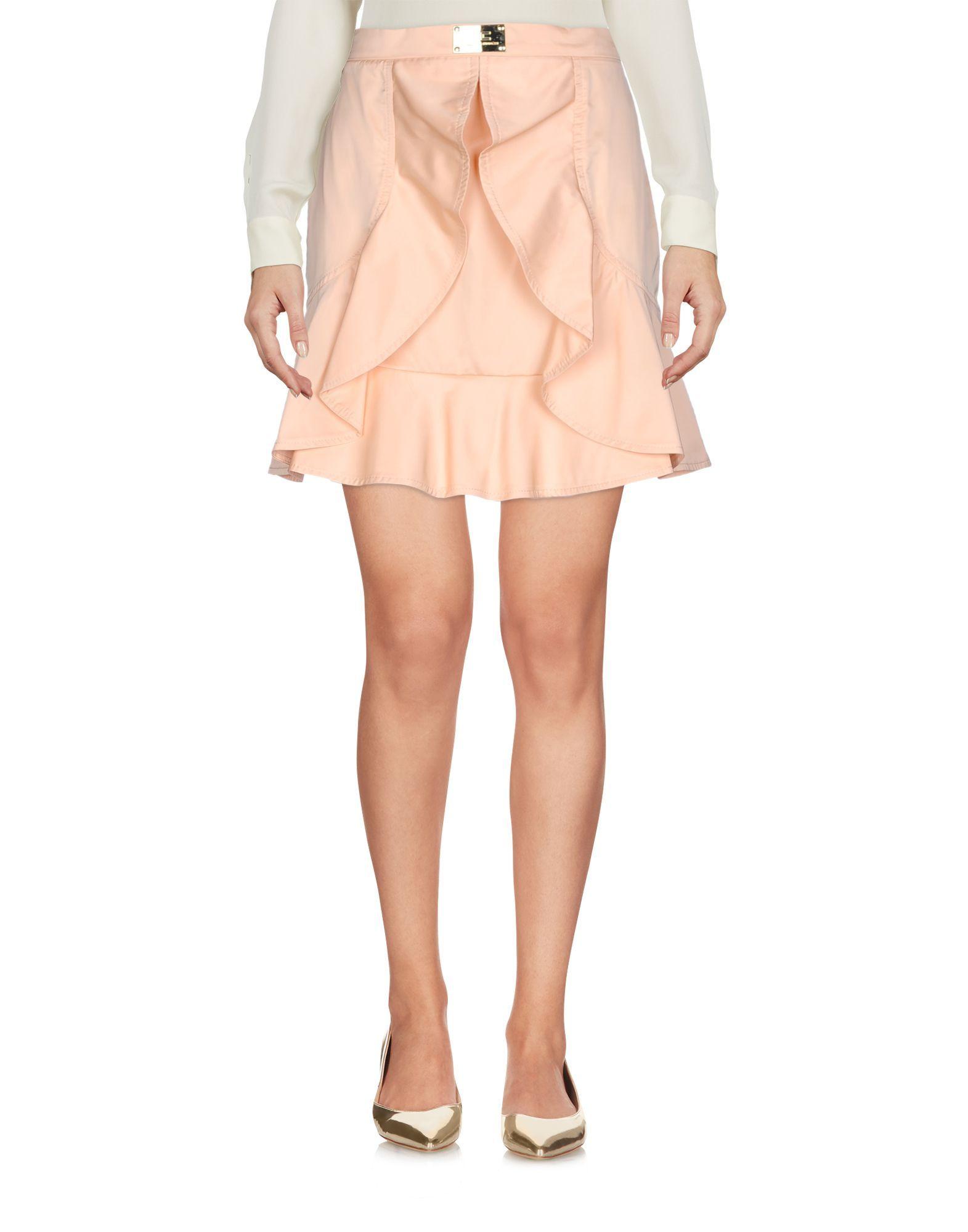 Elisabetta Franchi Apricot Short Skirt