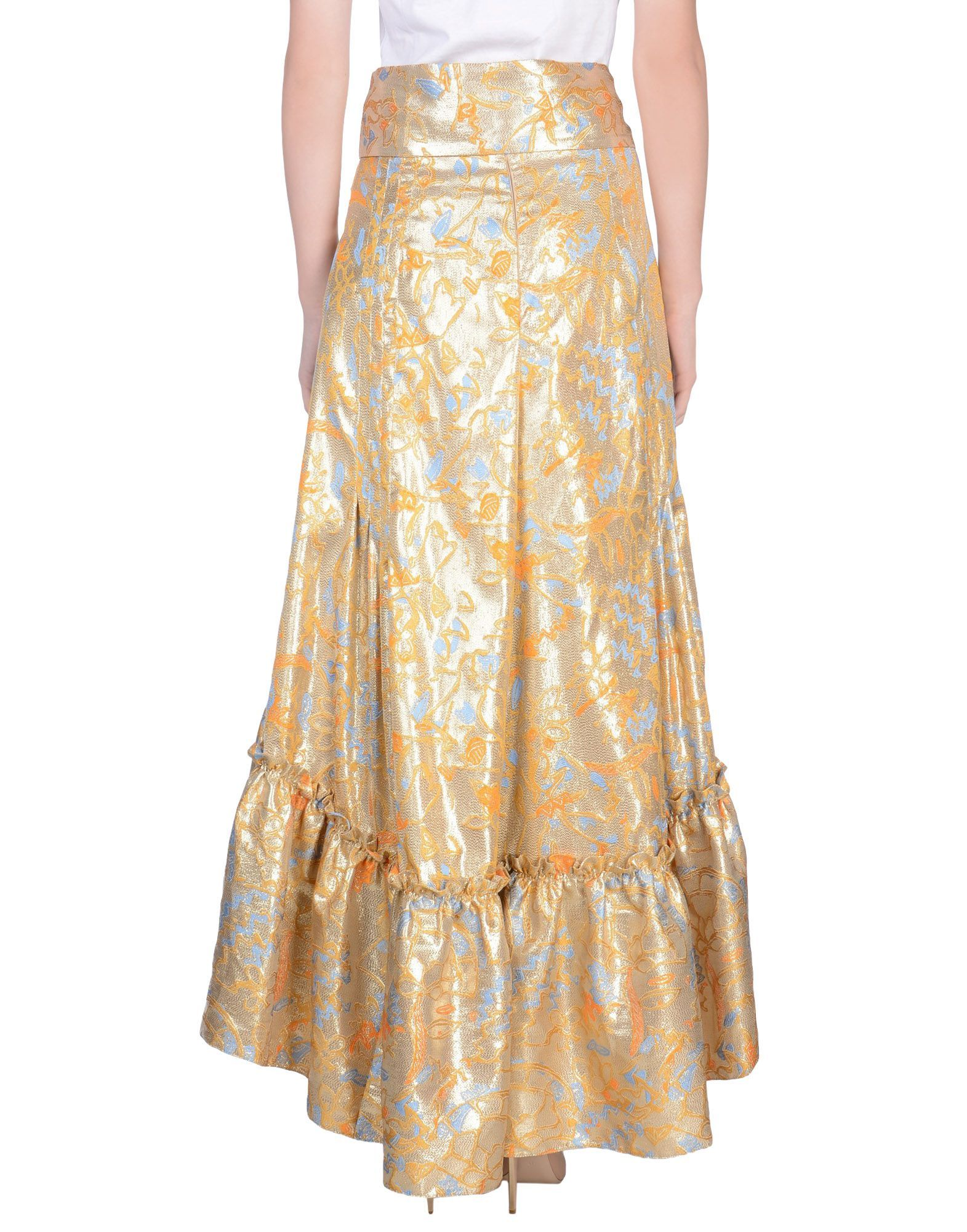 Peter Pilotto Gold 3/4 Length Skirt