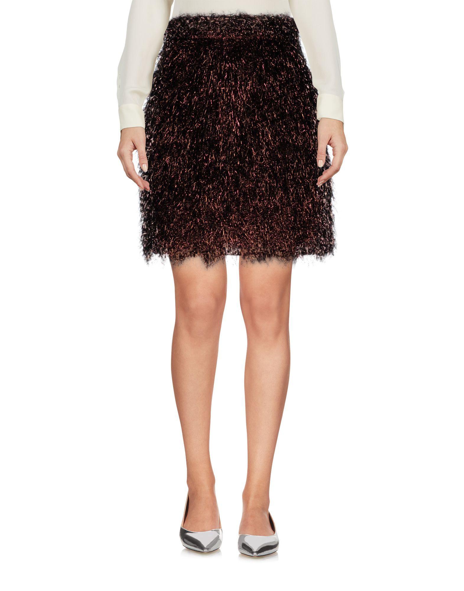 MSGM Maroon Skirt