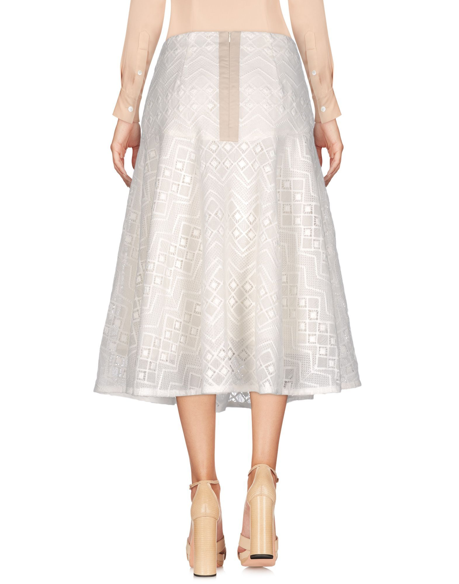 SKIRTS Ty-Lr White Woman Polyester