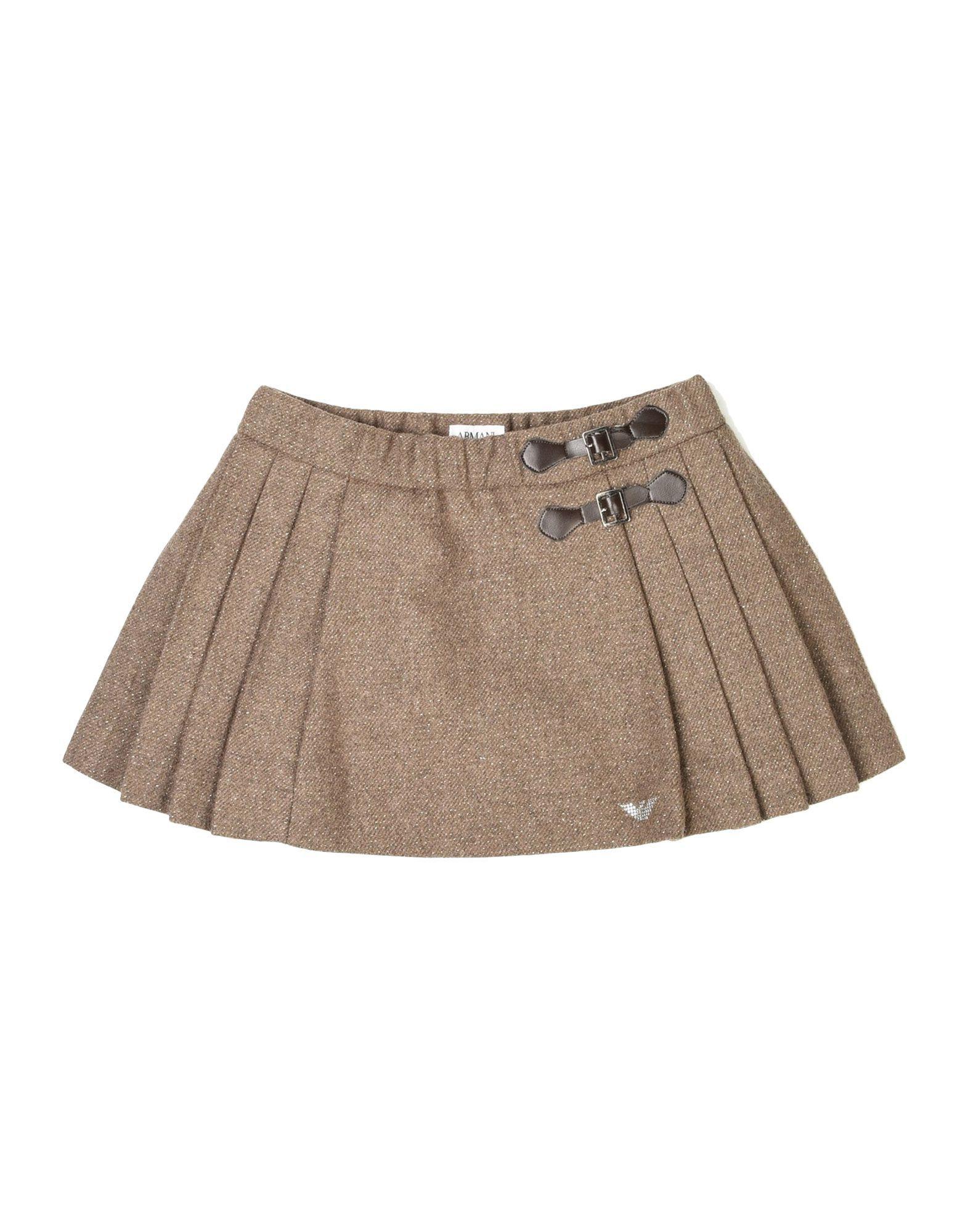 SKIRTS Armani Junior Khaki Girl Wool