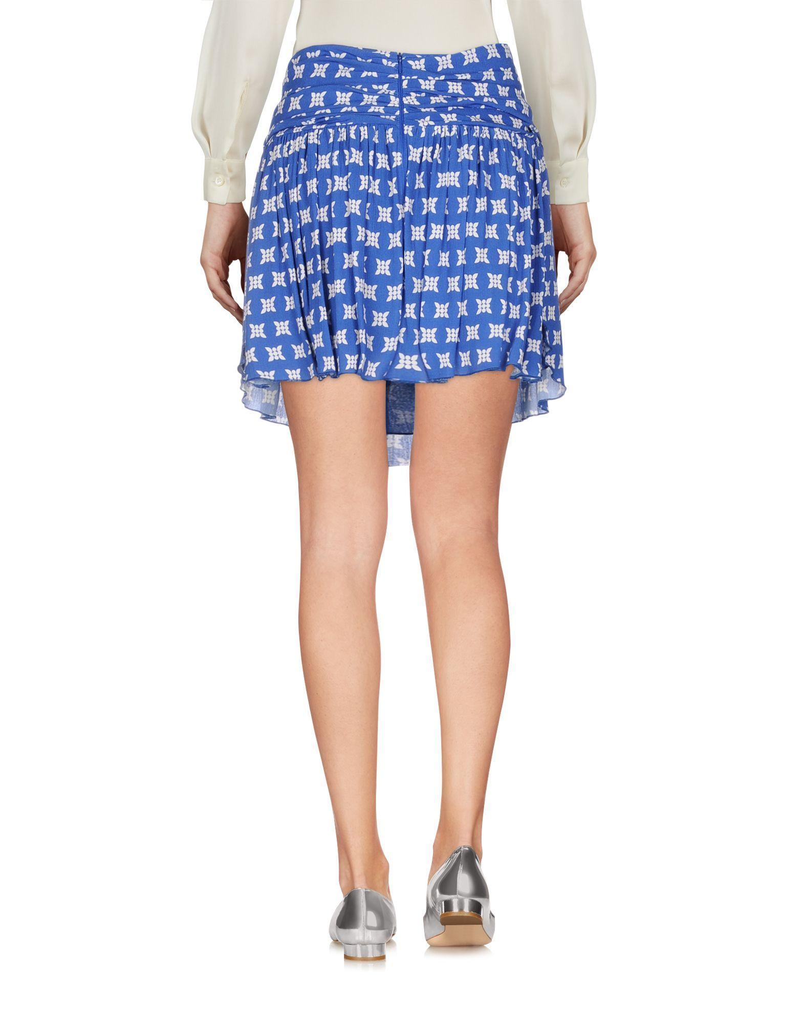 Merci Blue Pattern Skirt