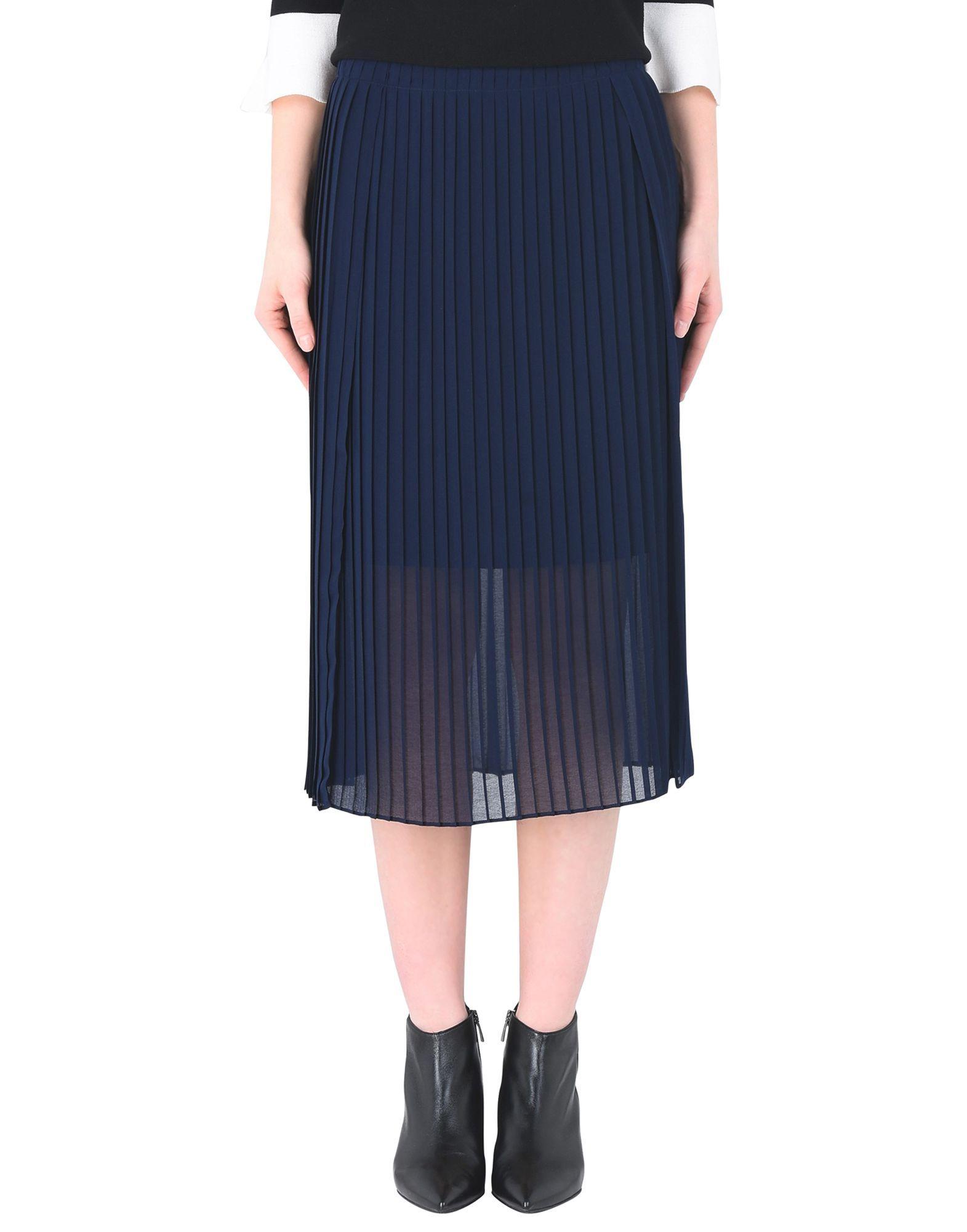 SKIRTS Dkny Dark blue Woman Polyester
