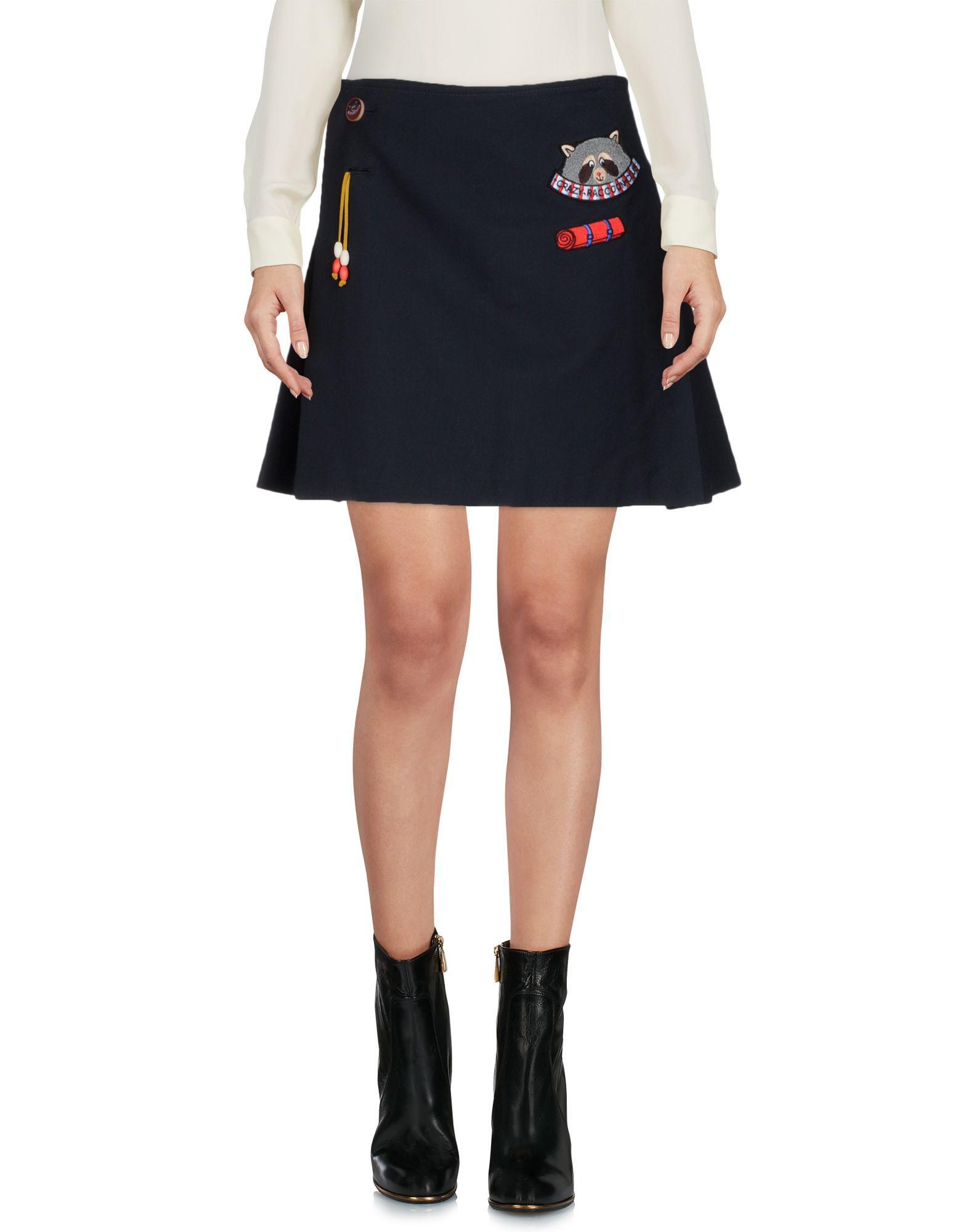 Mira Mikati Dark Blue Cotton Skirt