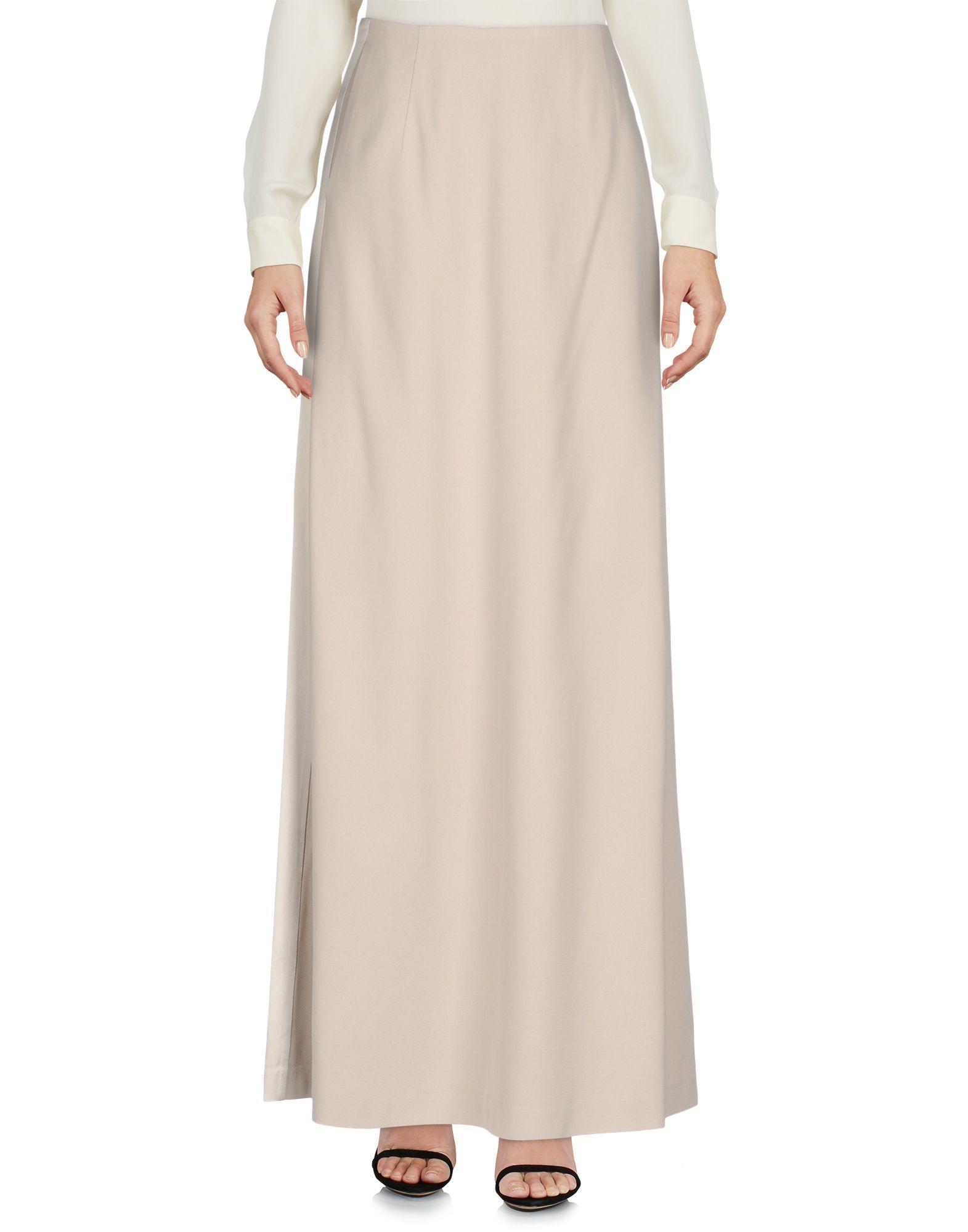 L' Autre Chose Light Grey Full Length Skirt