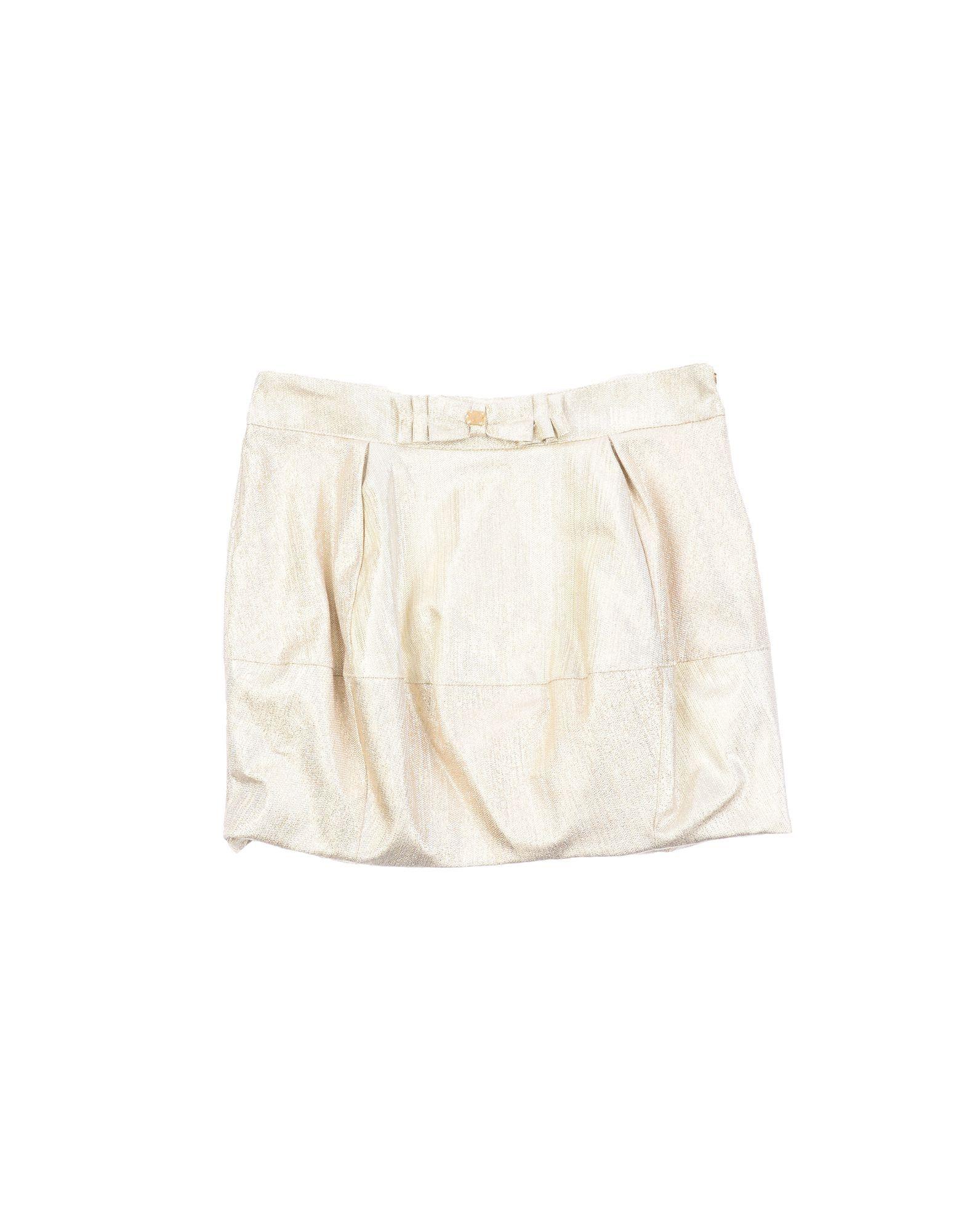 SKIRTS Miss Blumarine Gold Girl Cotton