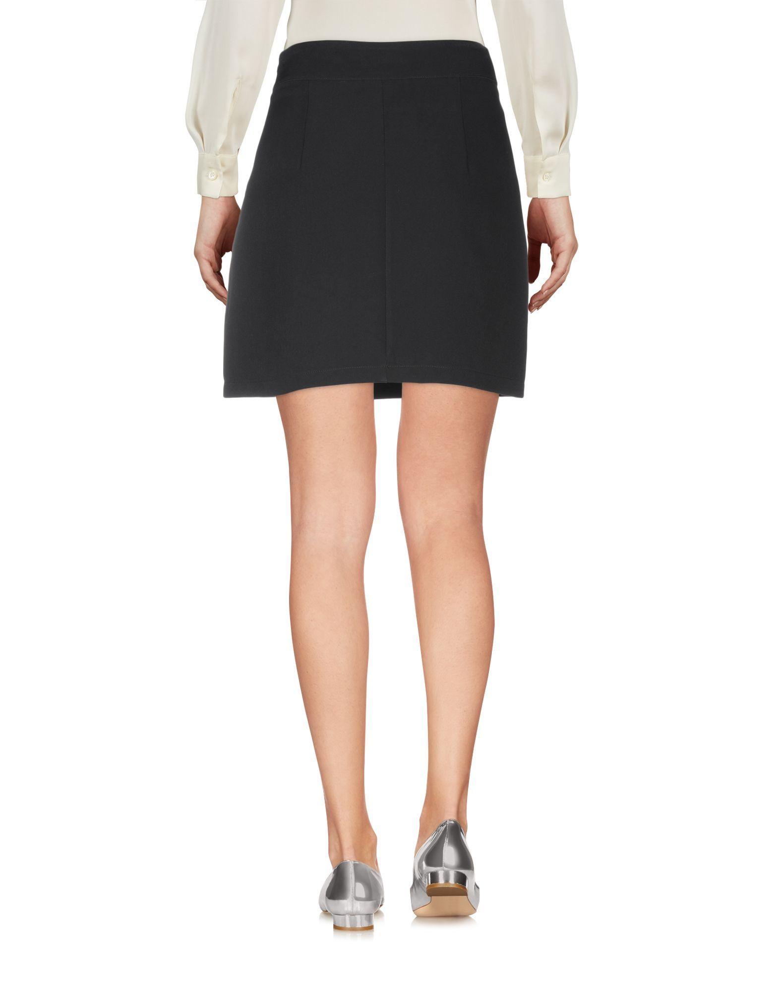 Mangano Black Crepe Embellished Skirt