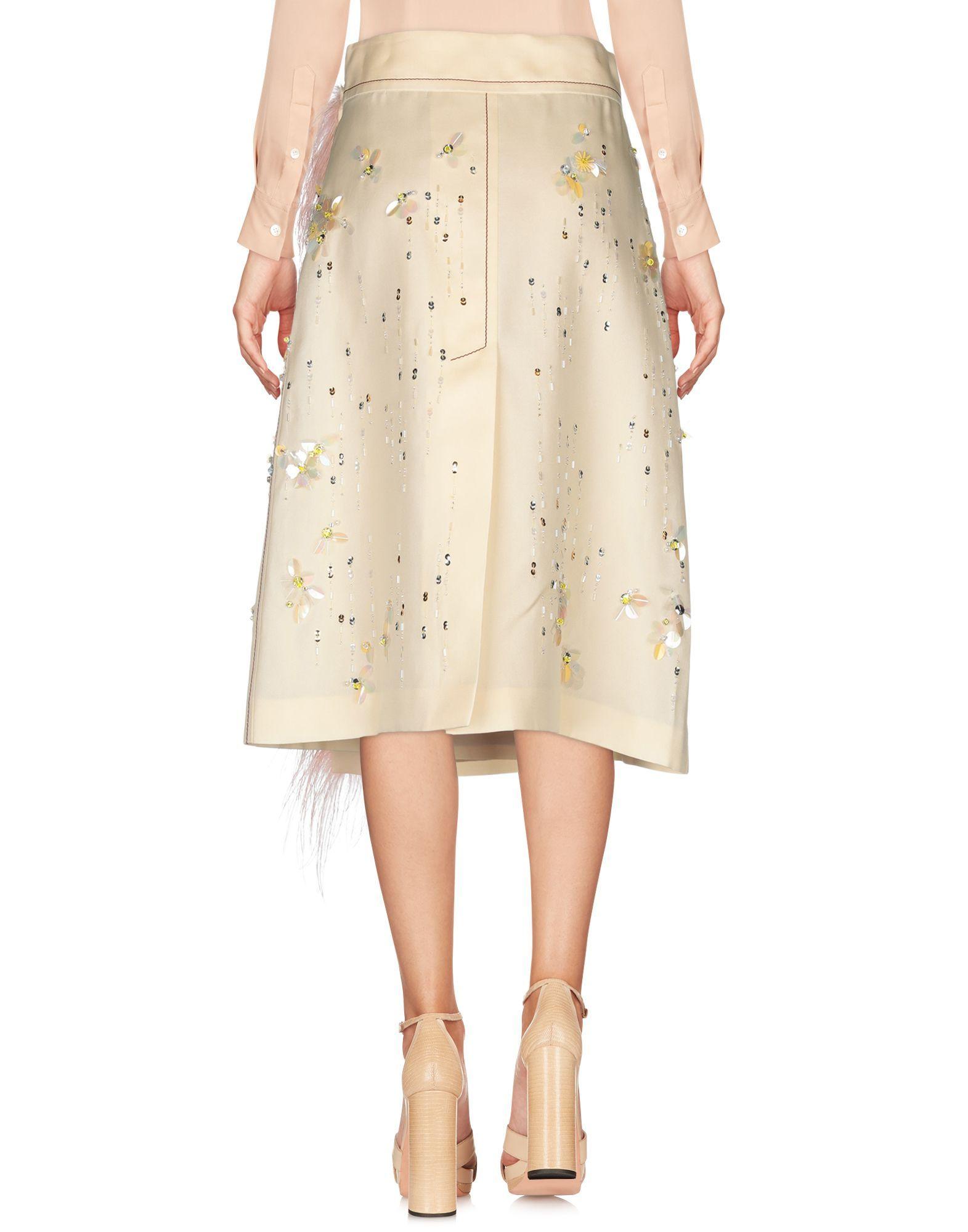 SKIRTS Woman Prada Ivory Silk