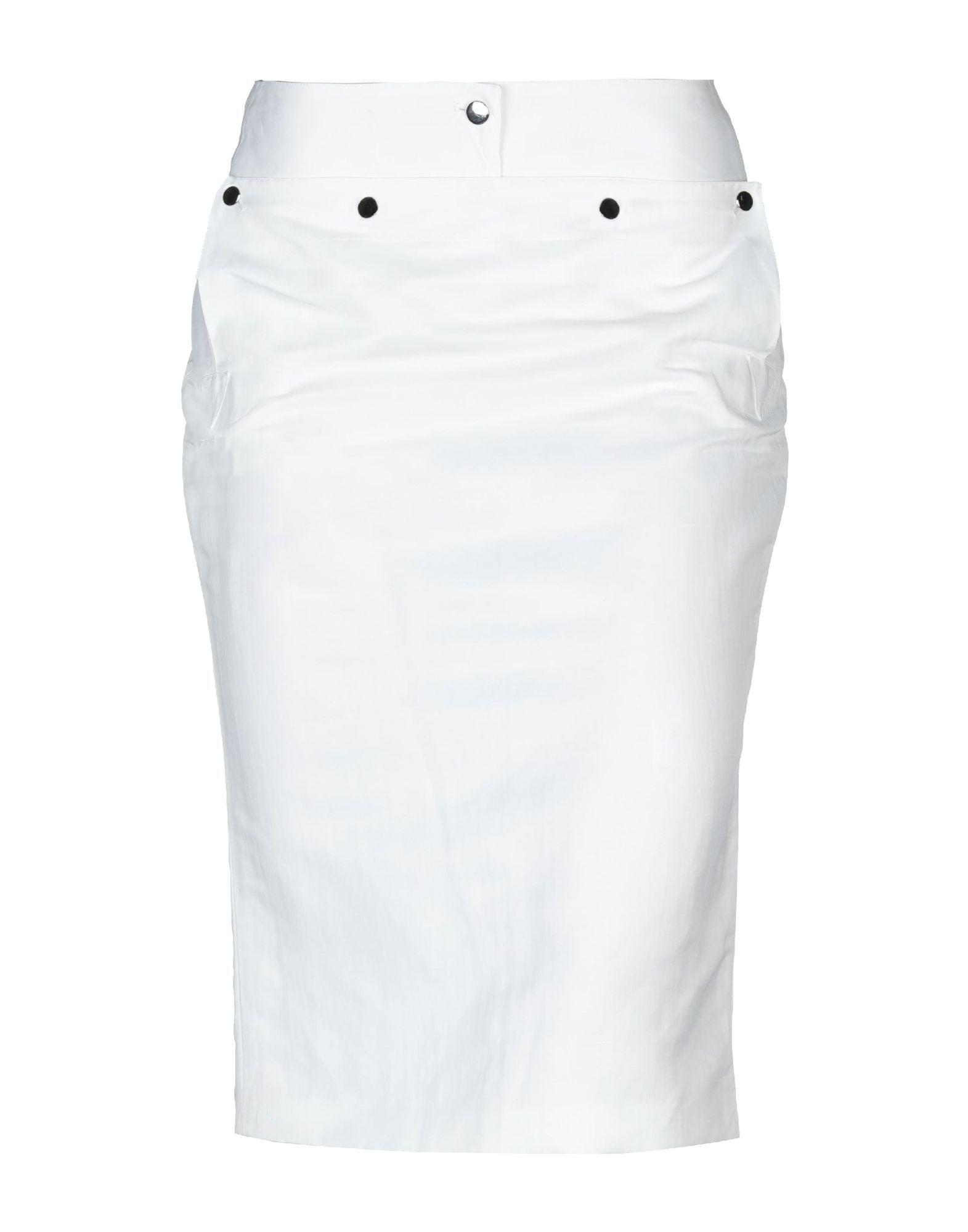 Cruciani White Linen Skirt