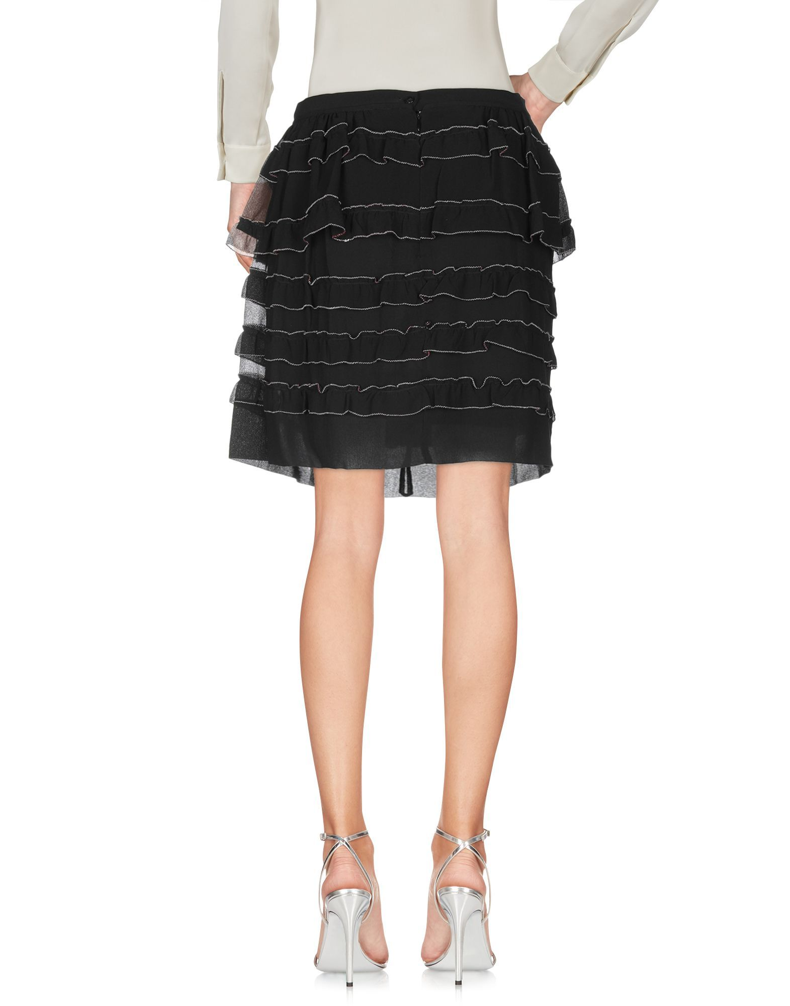 Isabel Marant Black Silk Ruffle Skirt