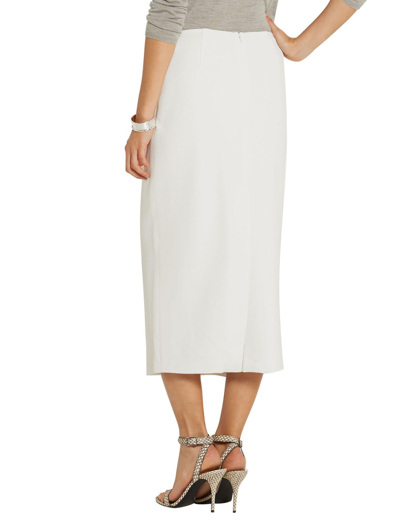 Wes Gordon White Crepe Skirt