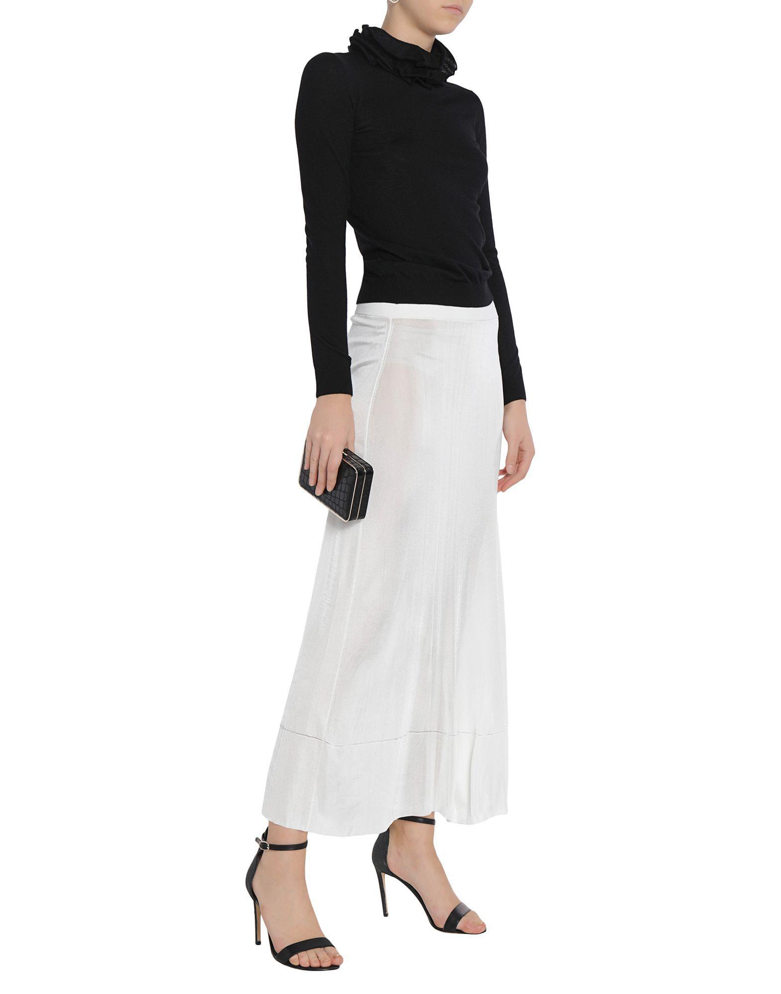 Calvin Klein Collection White Knit Skirt