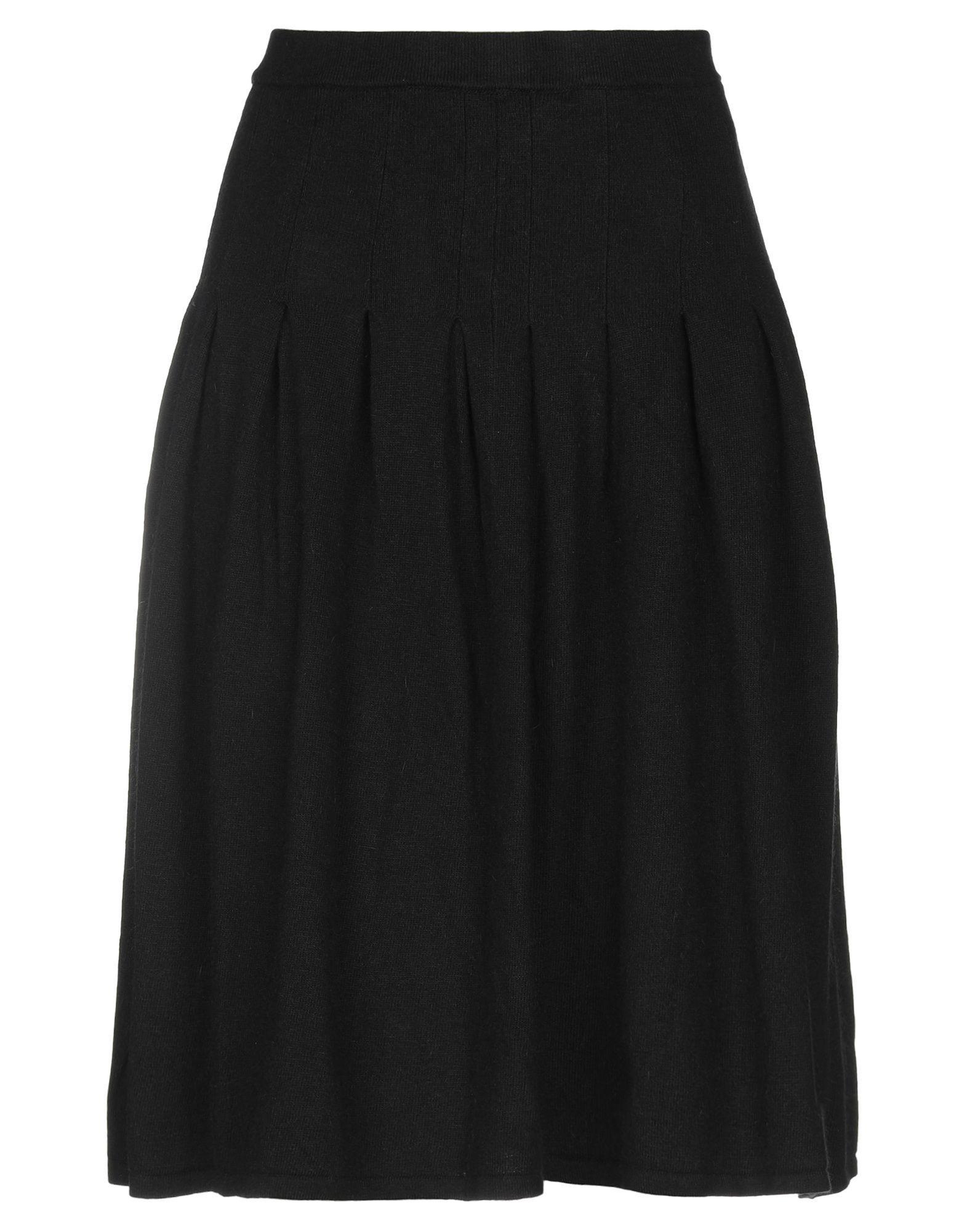 Pierre Balmain Black Knit Skirt