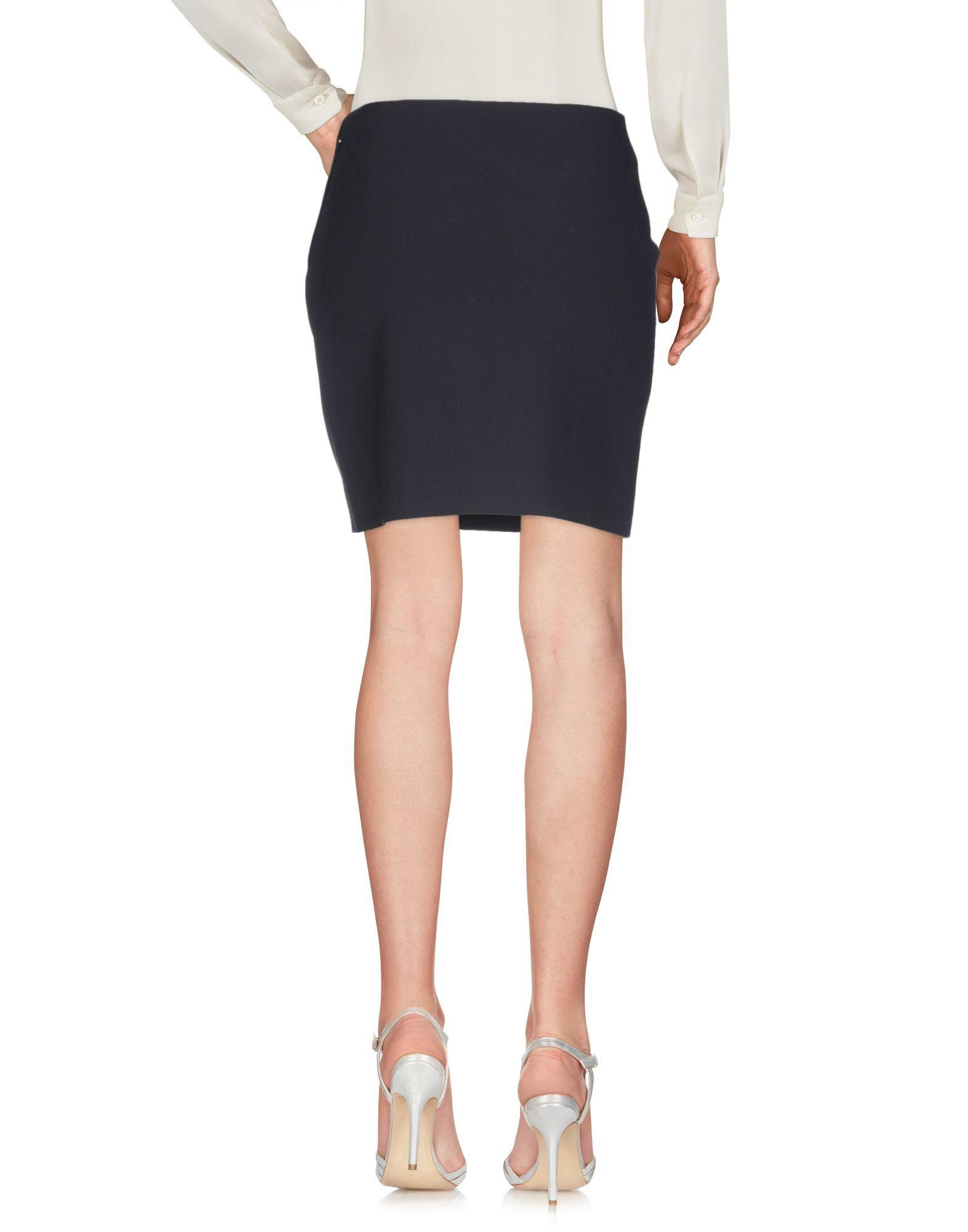 Lanvin Black Wool Skirt