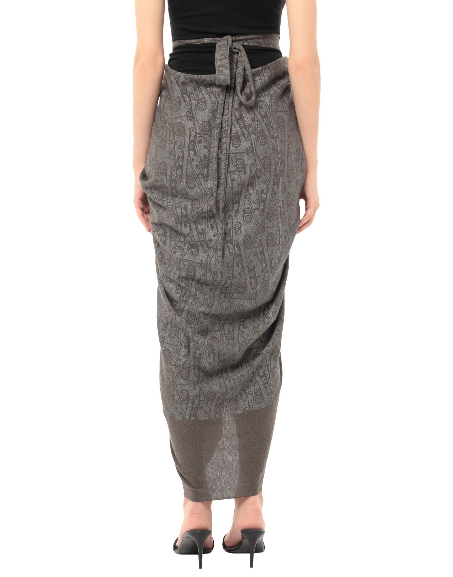 Rick Owens Lilies Lead Draped Jersey Skirt