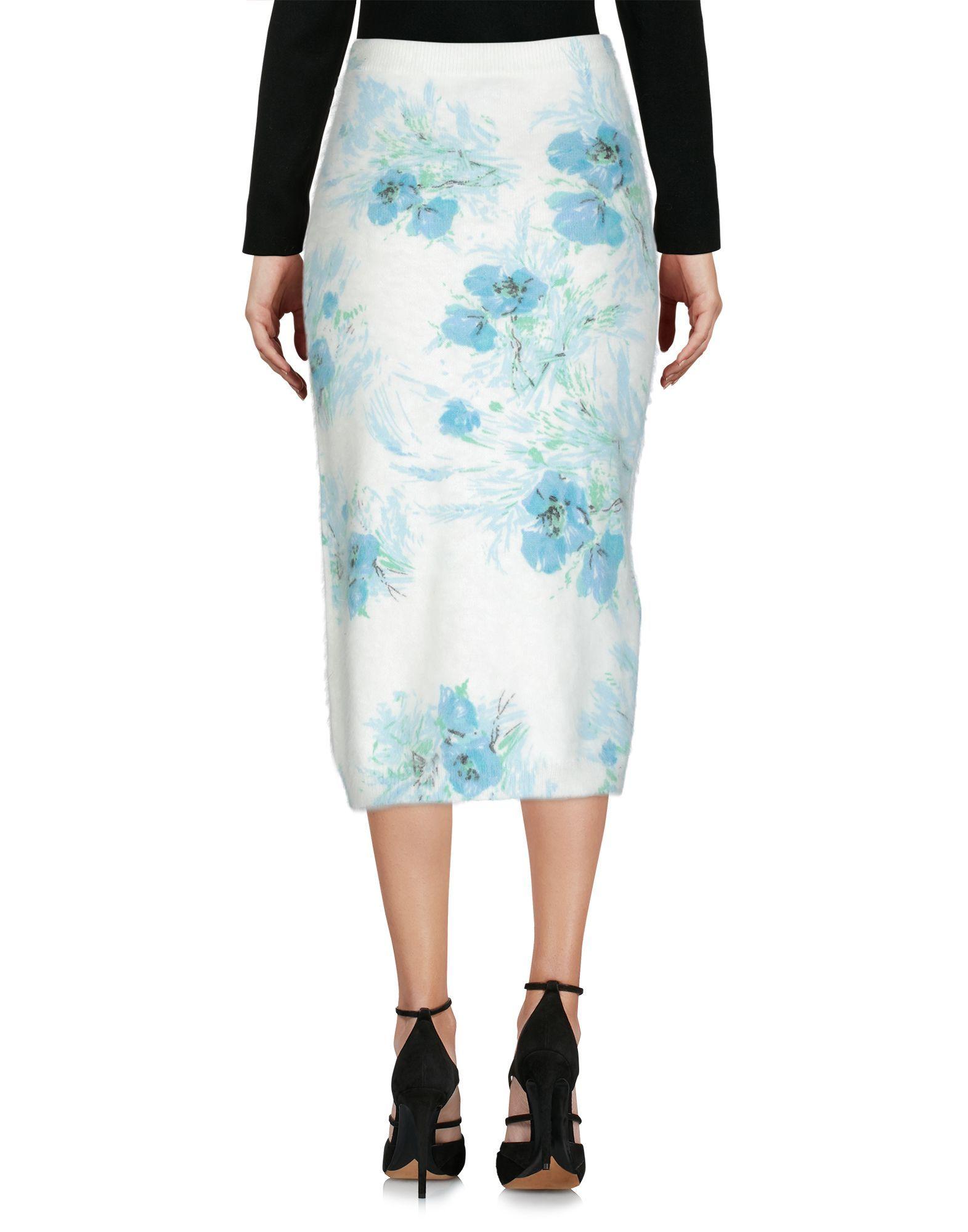 Prada White Angora Lightweight Knit Skirt