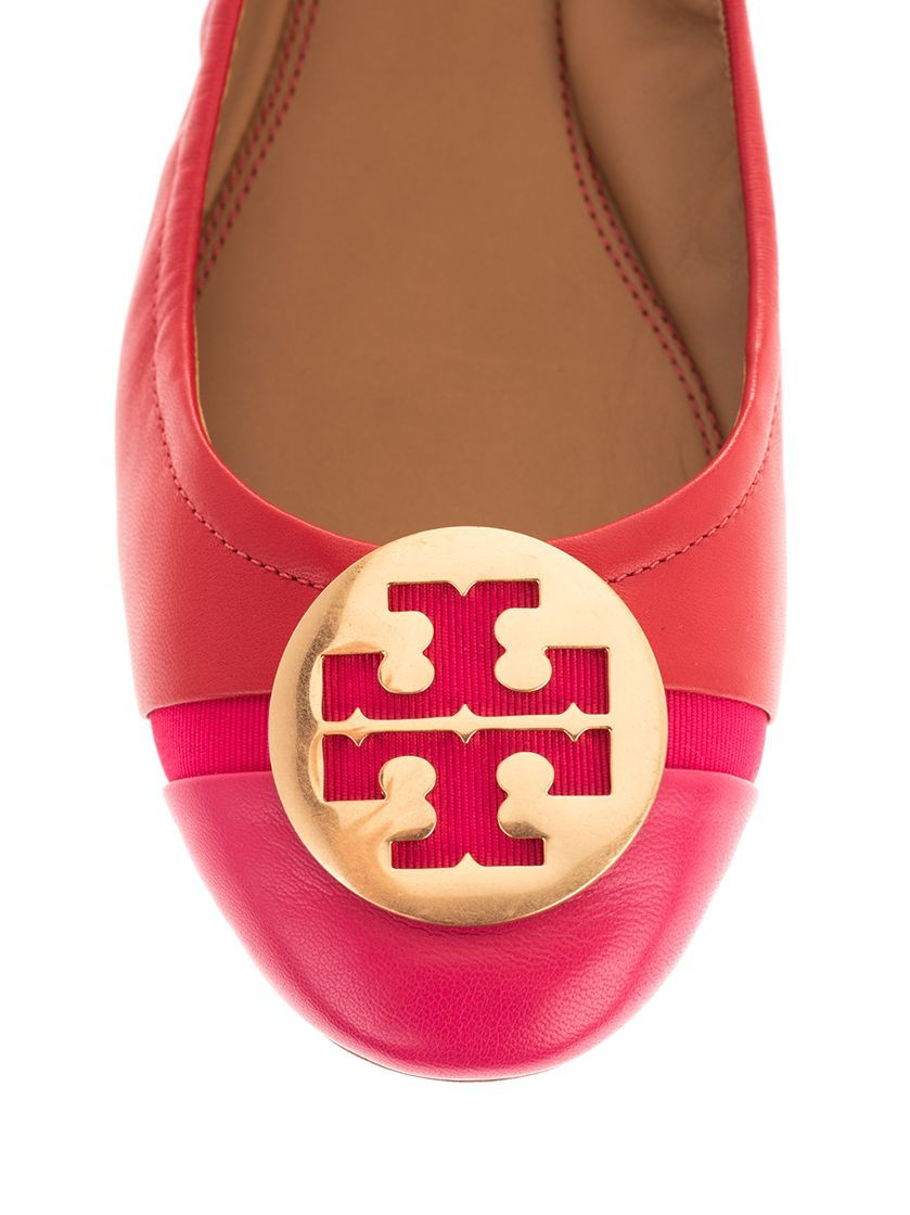 TORY BURCH WOMEN'S 63174621 RED LEATHER FLATS