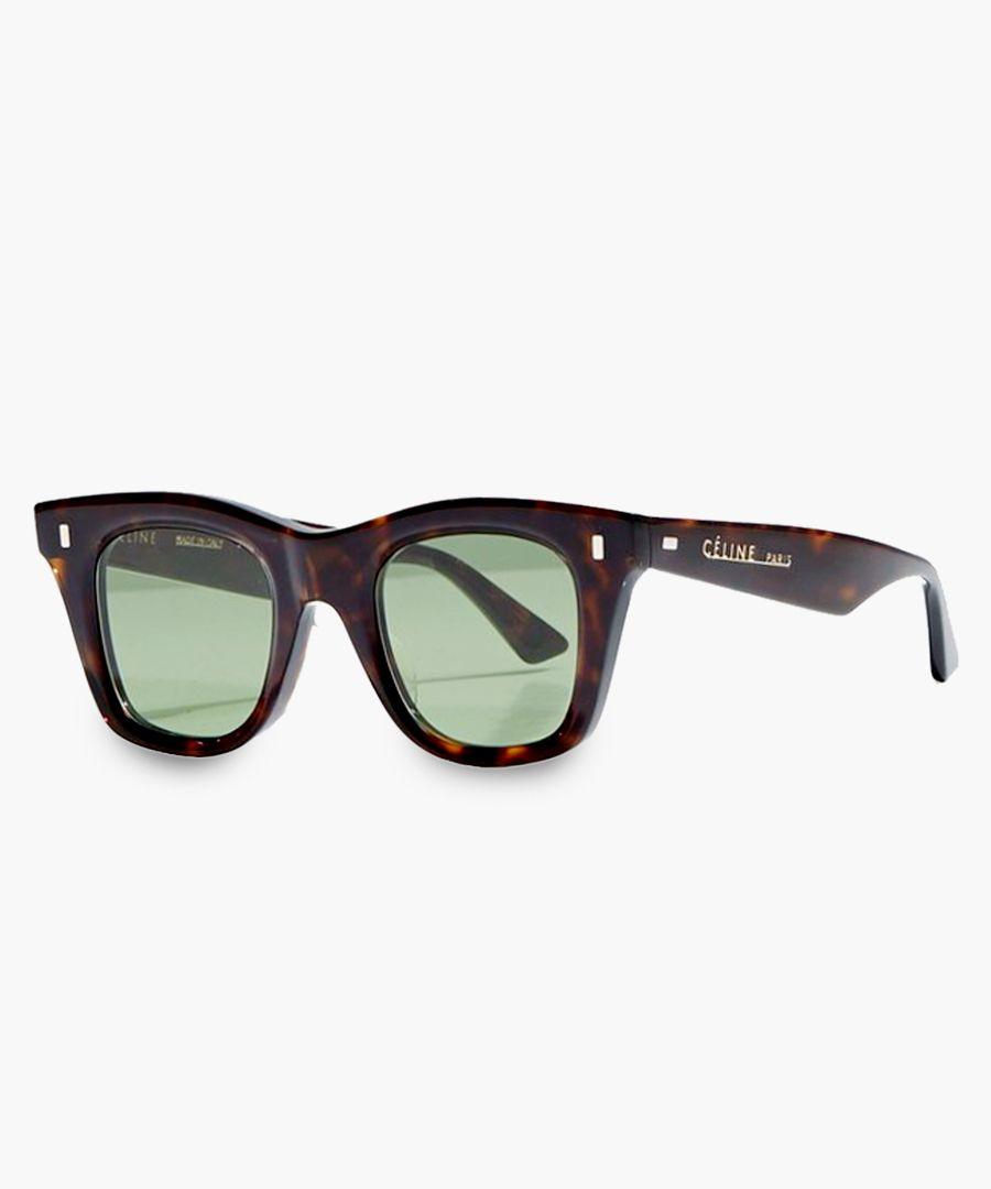 Dark havana and green sunglasses