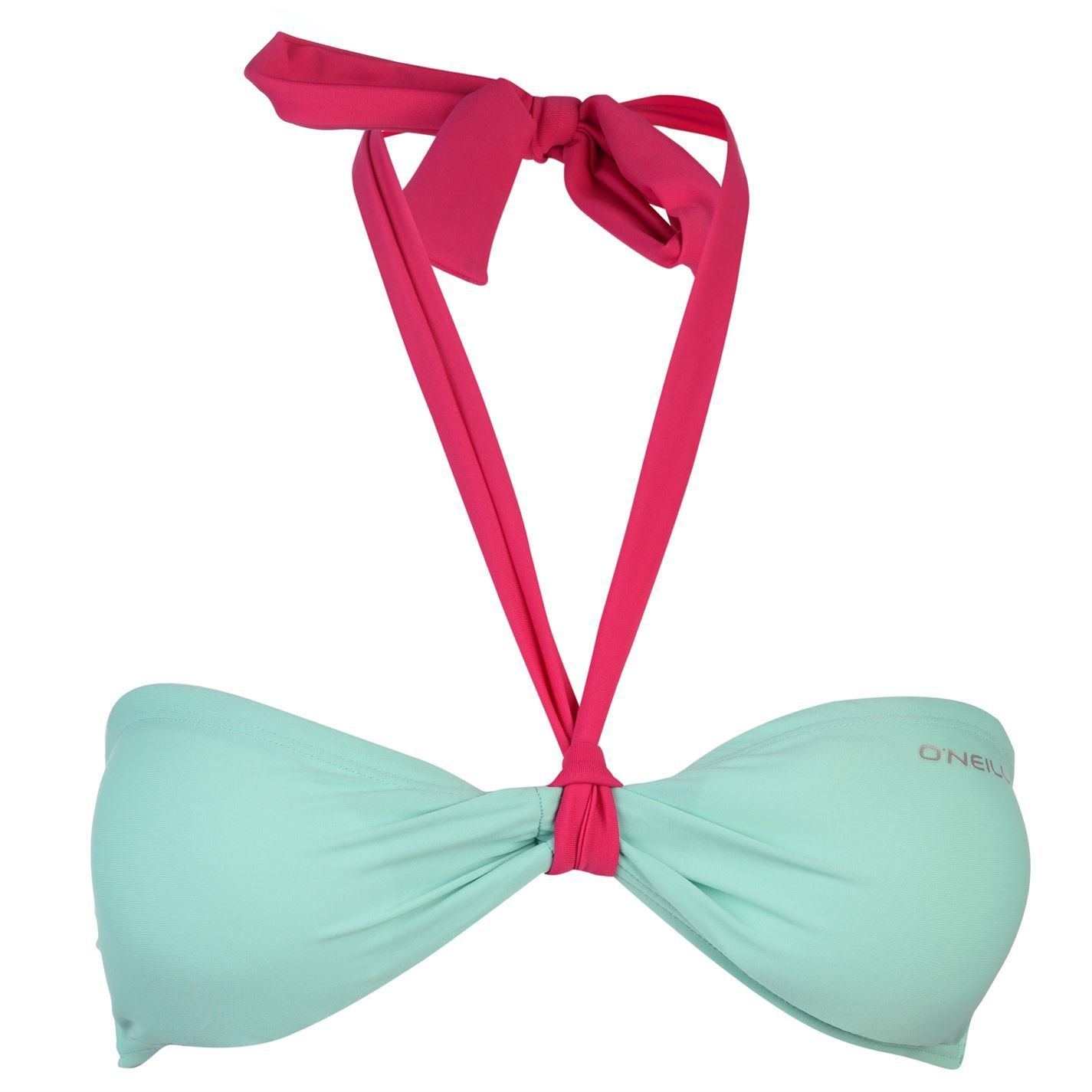 ONeill Womens MM Solid Bandeau Bikini Top Bra Swimwear Clip Back Fastening