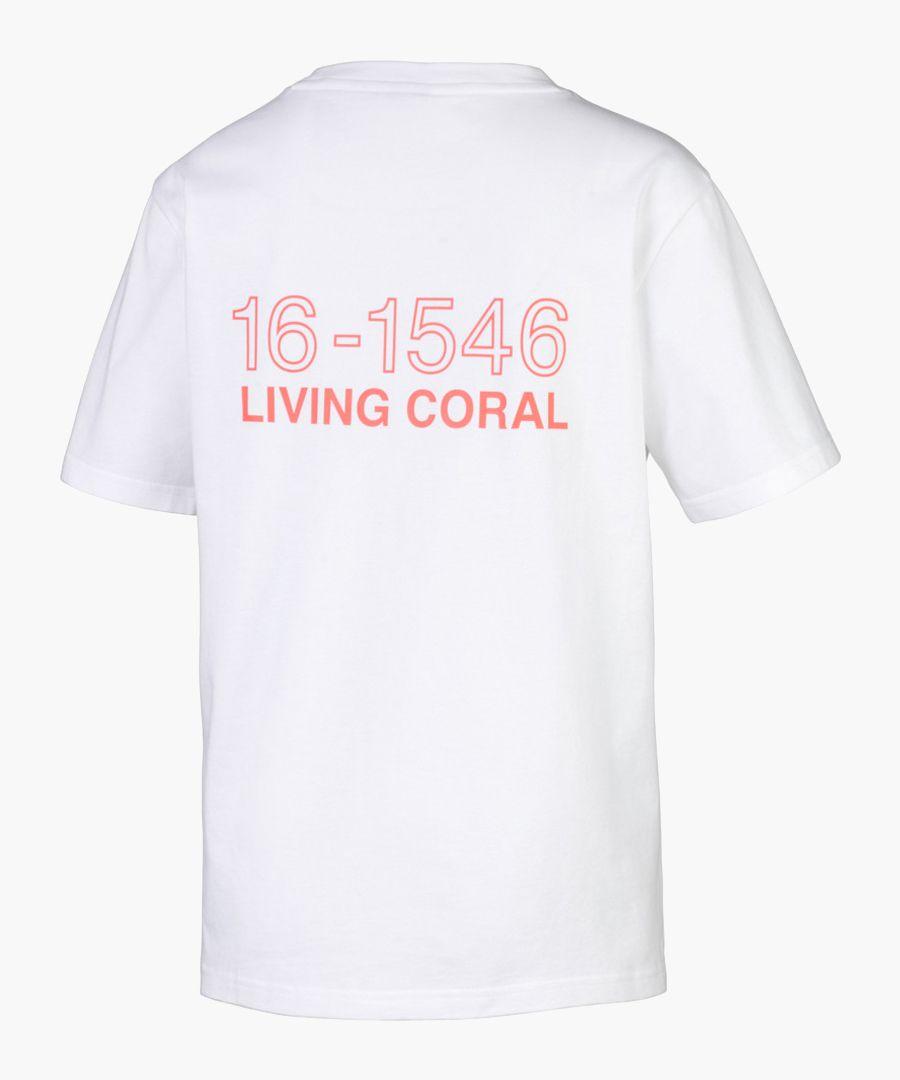 X pantone white pure cotton t-shirt