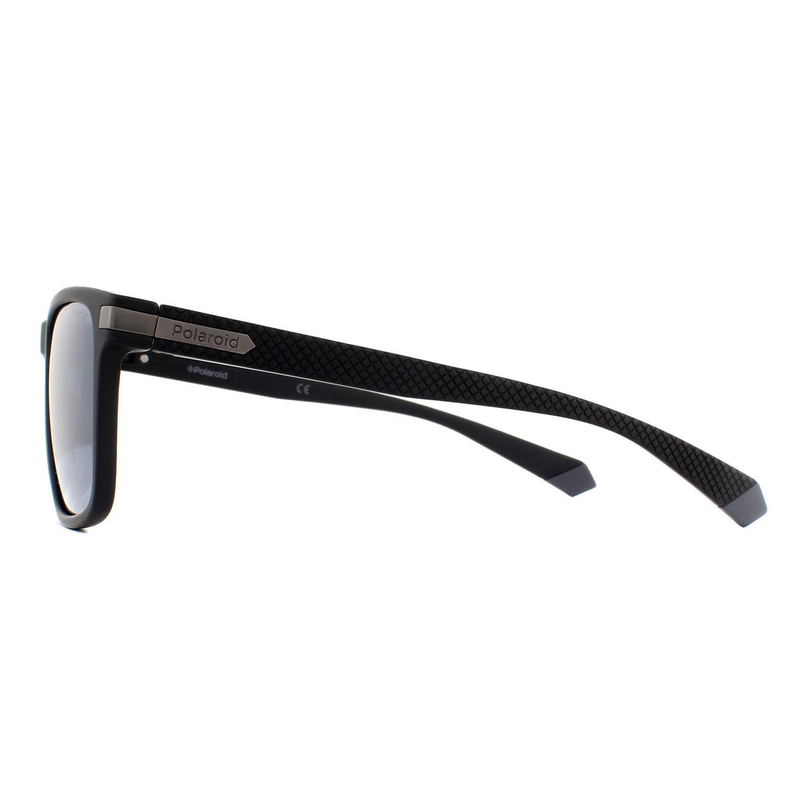 Polaroid Sunglasses PLD 2088/S 003 EX Matte Black Silver Mirror Polarized